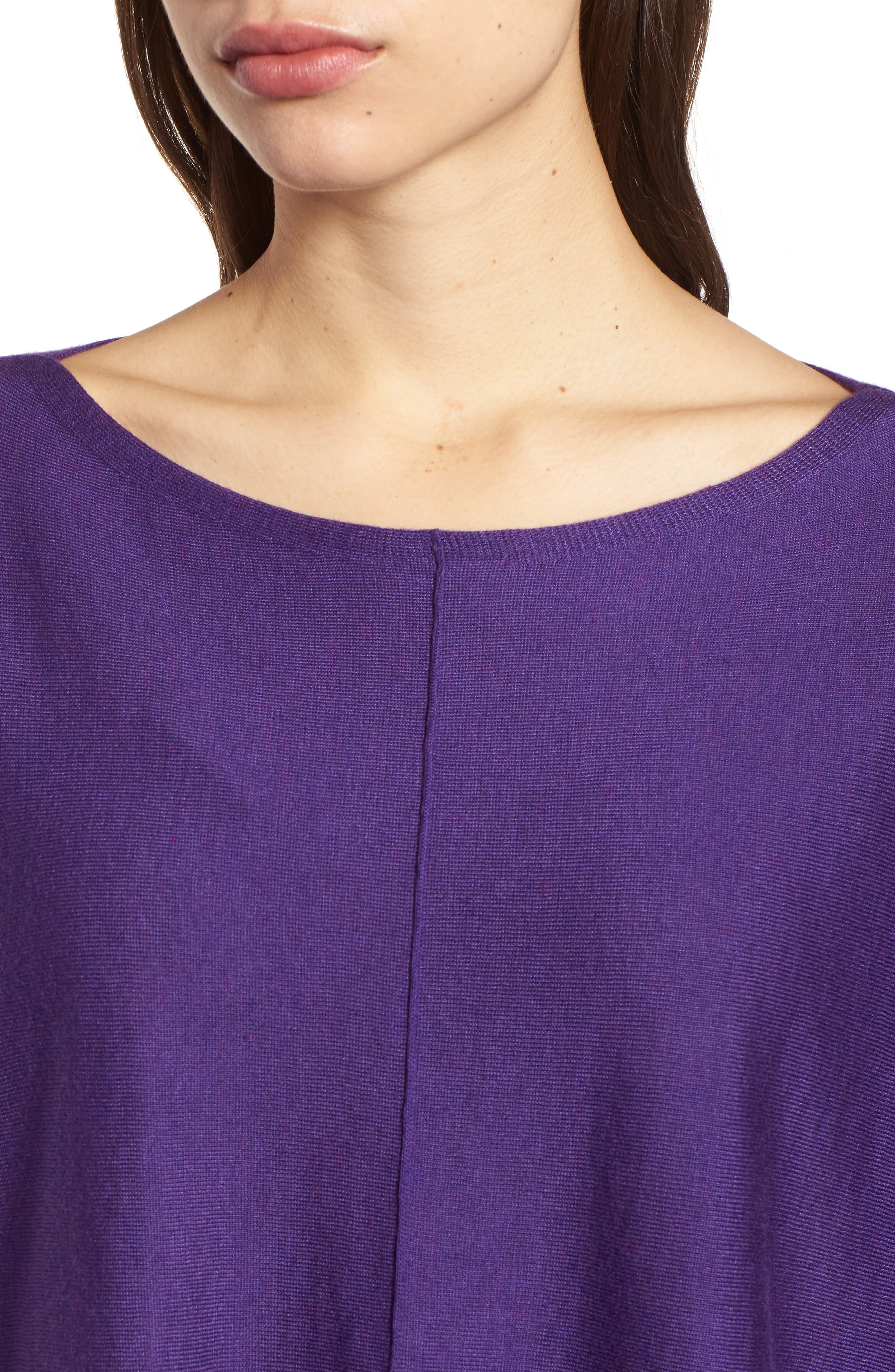 Tencel<sup>®</sup> Lyocell Blend High/Low Sweater,                             Alternate thumbnail 23, color,