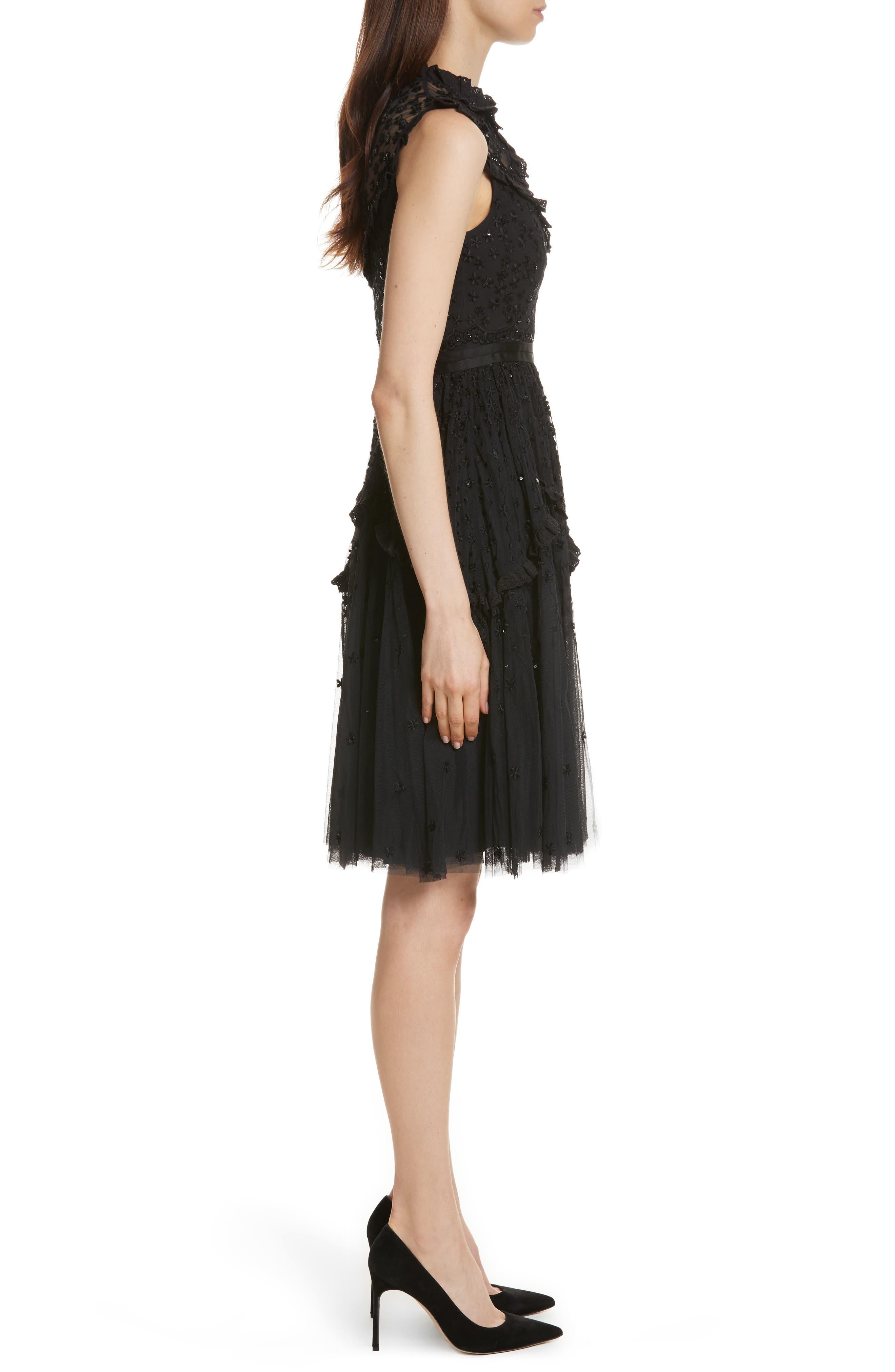 Daisy Shimmer Dress,                             Alternate thumbnail 3, color,                             001