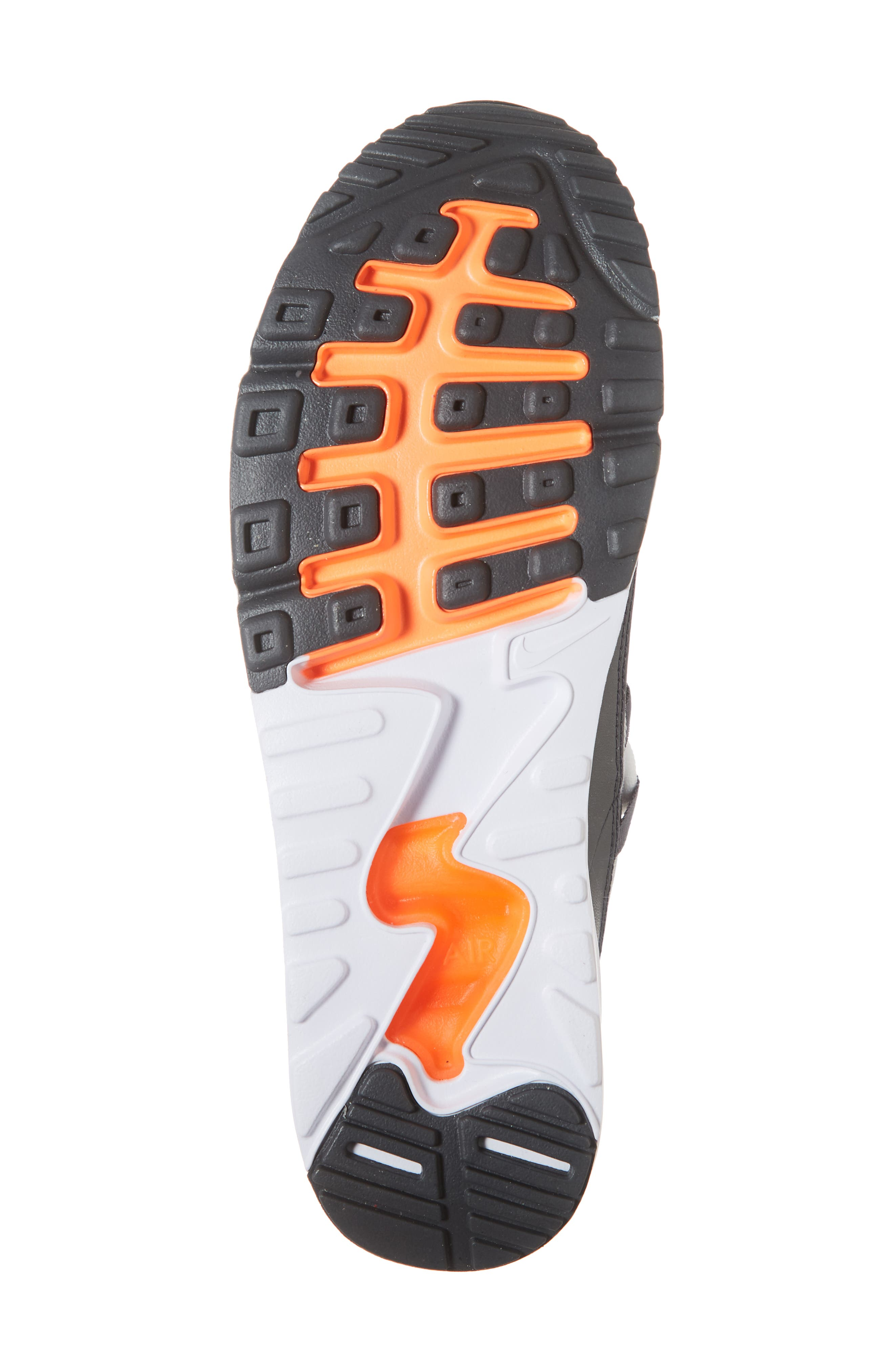 Air Max 90 EZ Sneaker,                             Alternate thumbnail 6, color,                             WOLF GREY/ TOTAL ORANGE/ WHITE