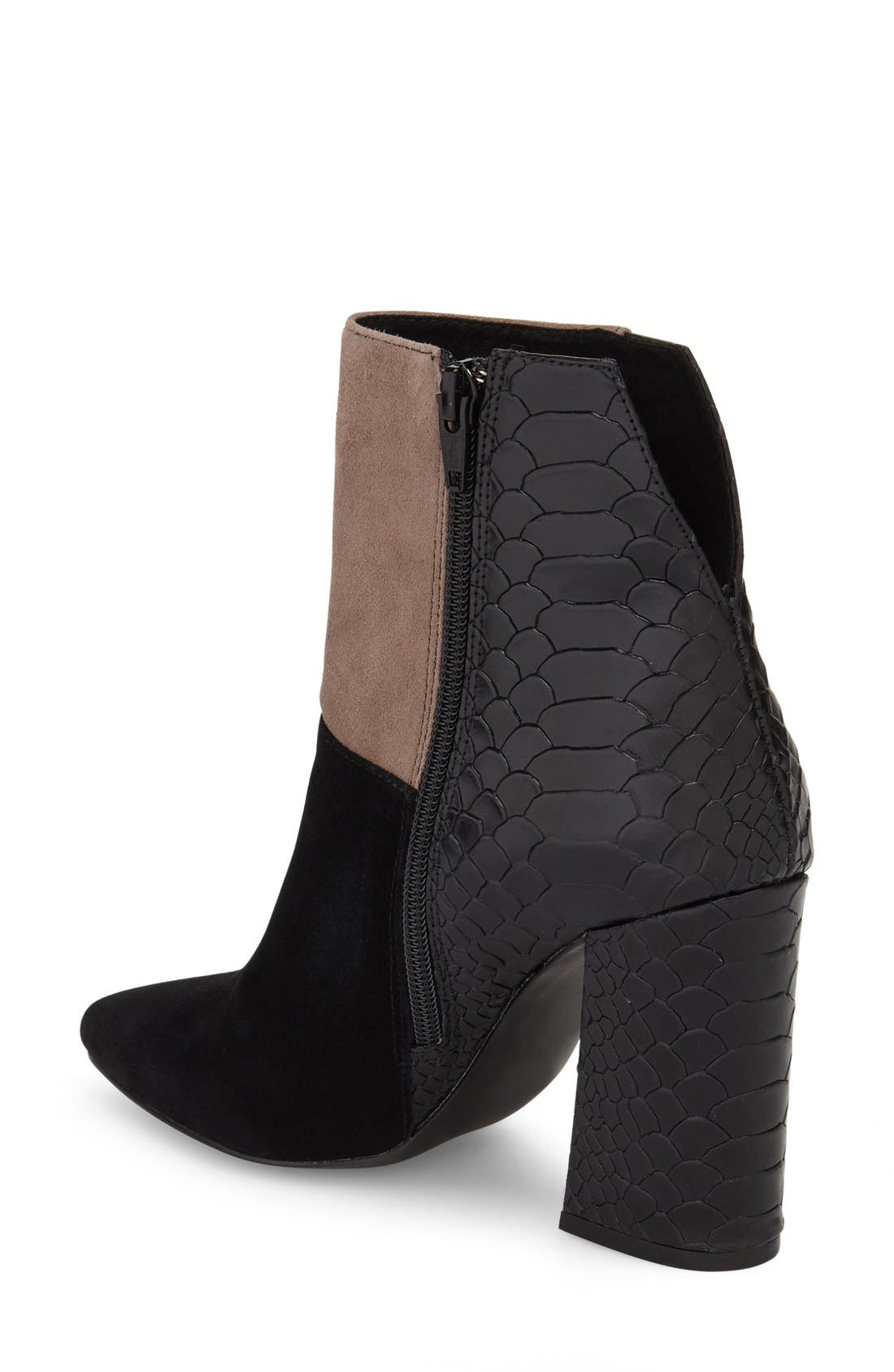 'Santorini' Colorblock Bootie,                             Alternate thumbnail 2, color,                             001