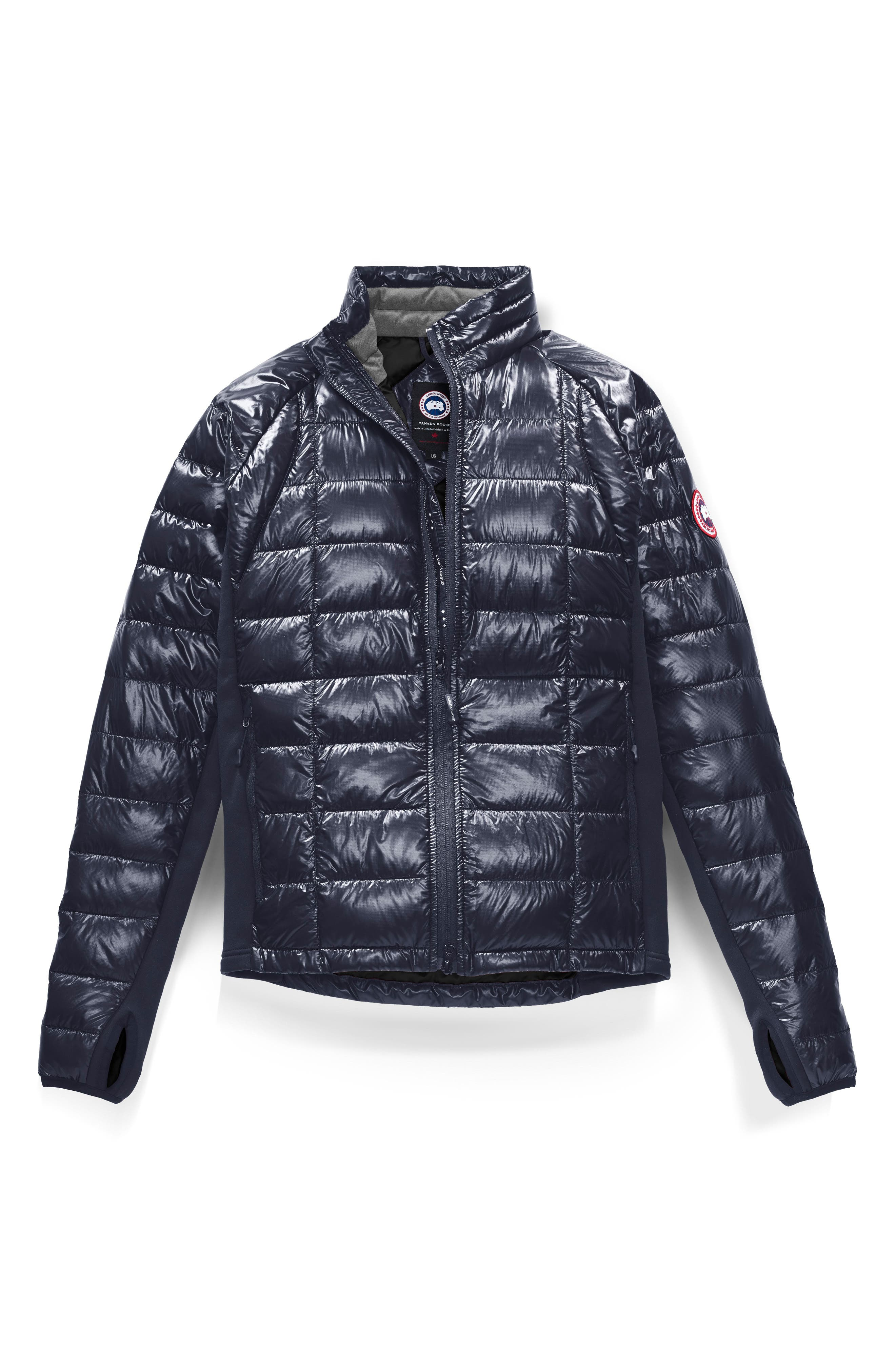 'Hybridge<sup>™</sup> Lite' Slim Fit Packable Jacket,                             Alternate thumbnail 6, color,                             ADMIRAL BLUE/ BLACK