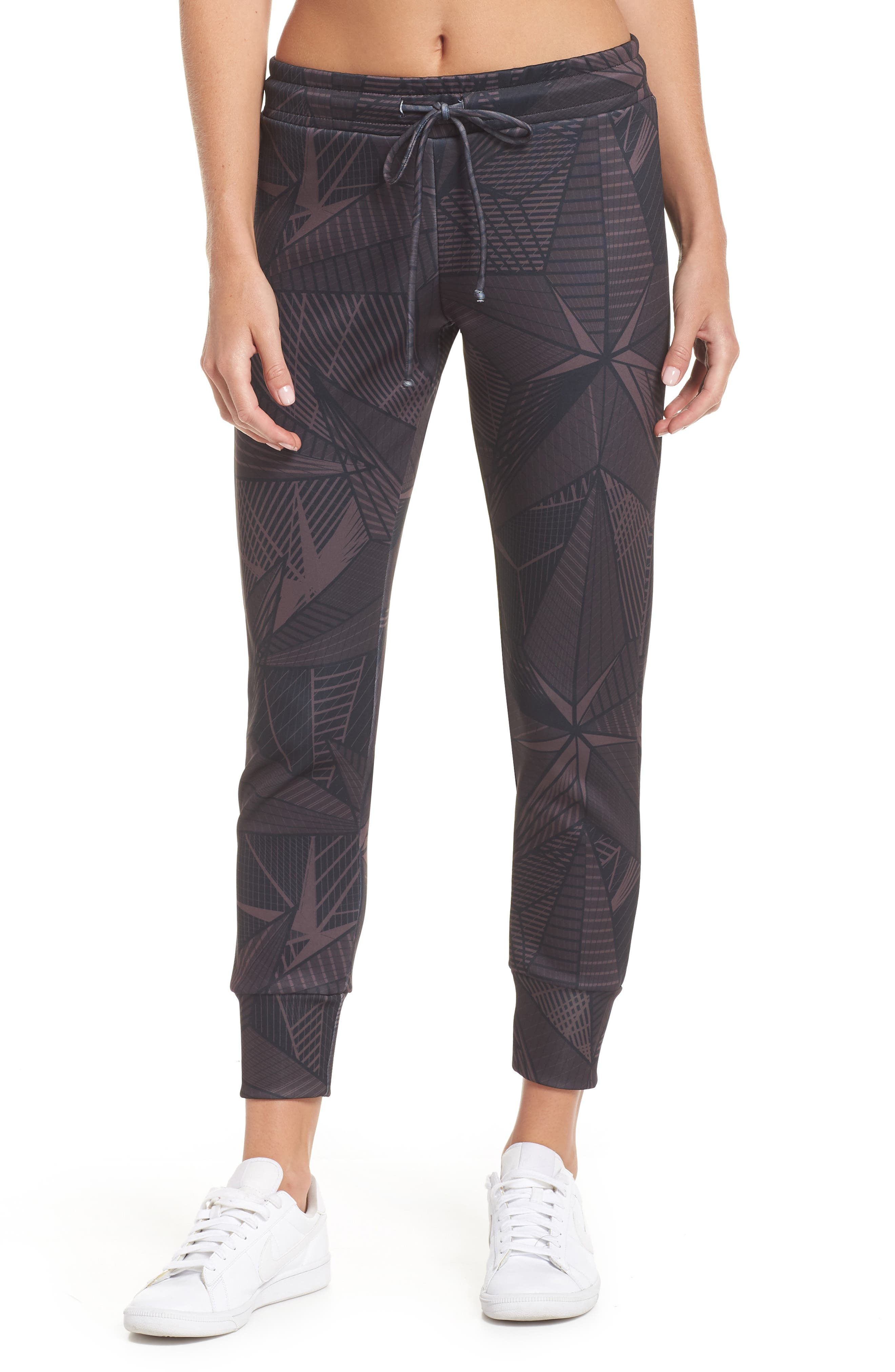 Desire Stars Jogger Pants,                         Main,                         color, DARK RED