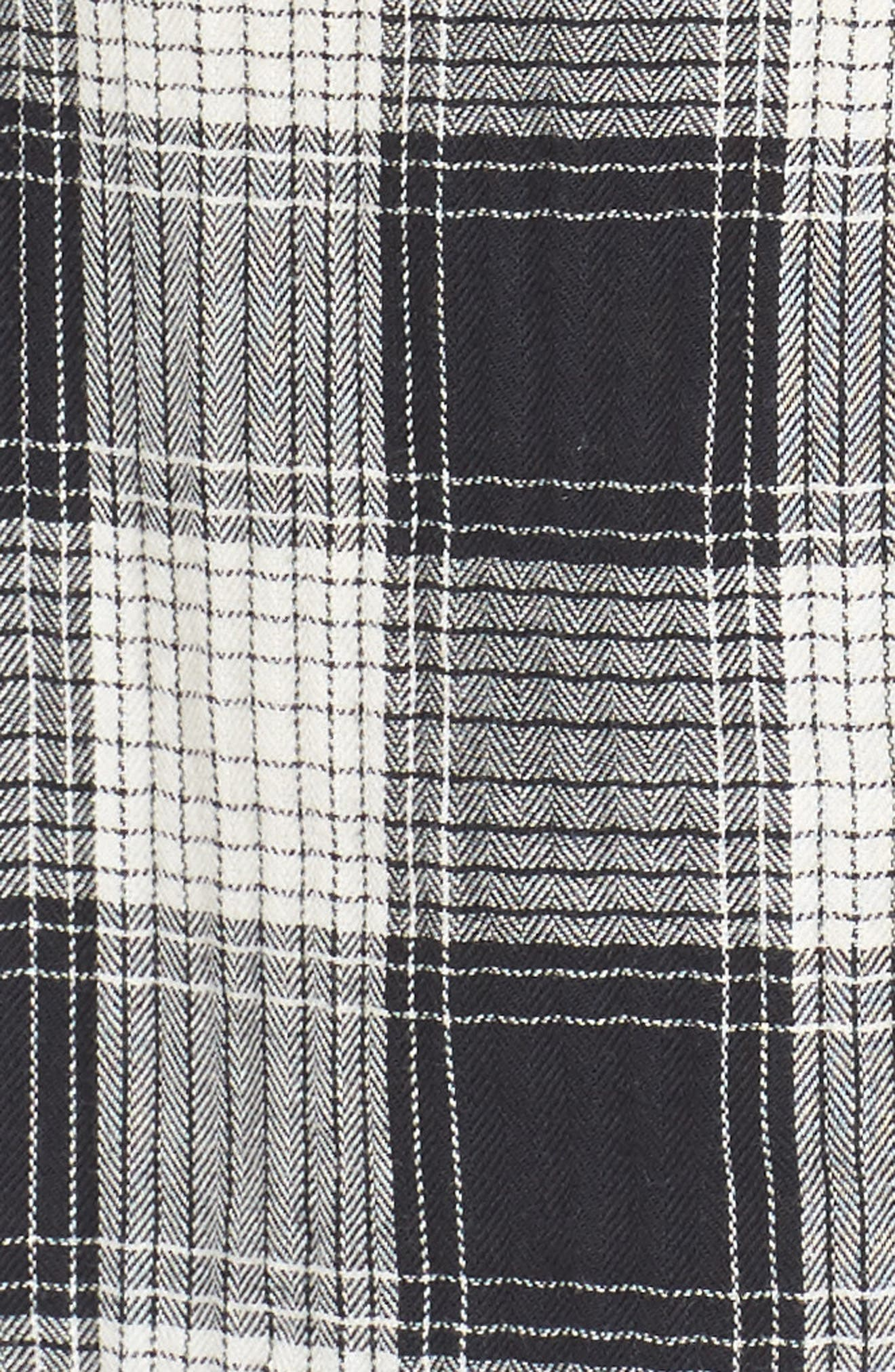 Herringbone Woven Plaid Shirt,                             Alternate thumbnail 5, color,                             100