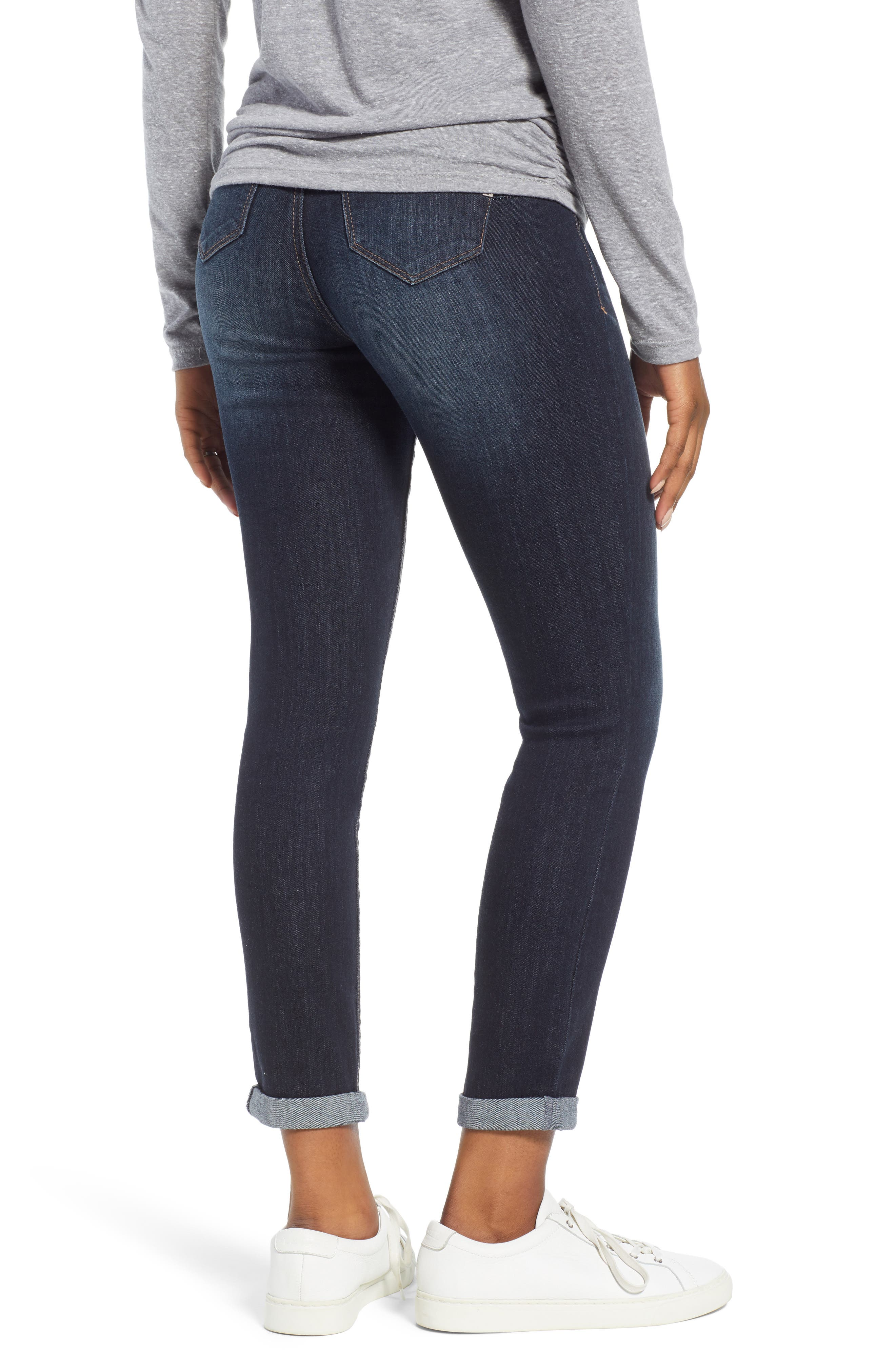 Roll Cuff Maternity Skinny Jeans,                             Alternate thumbnail 2, color,                             ERICA