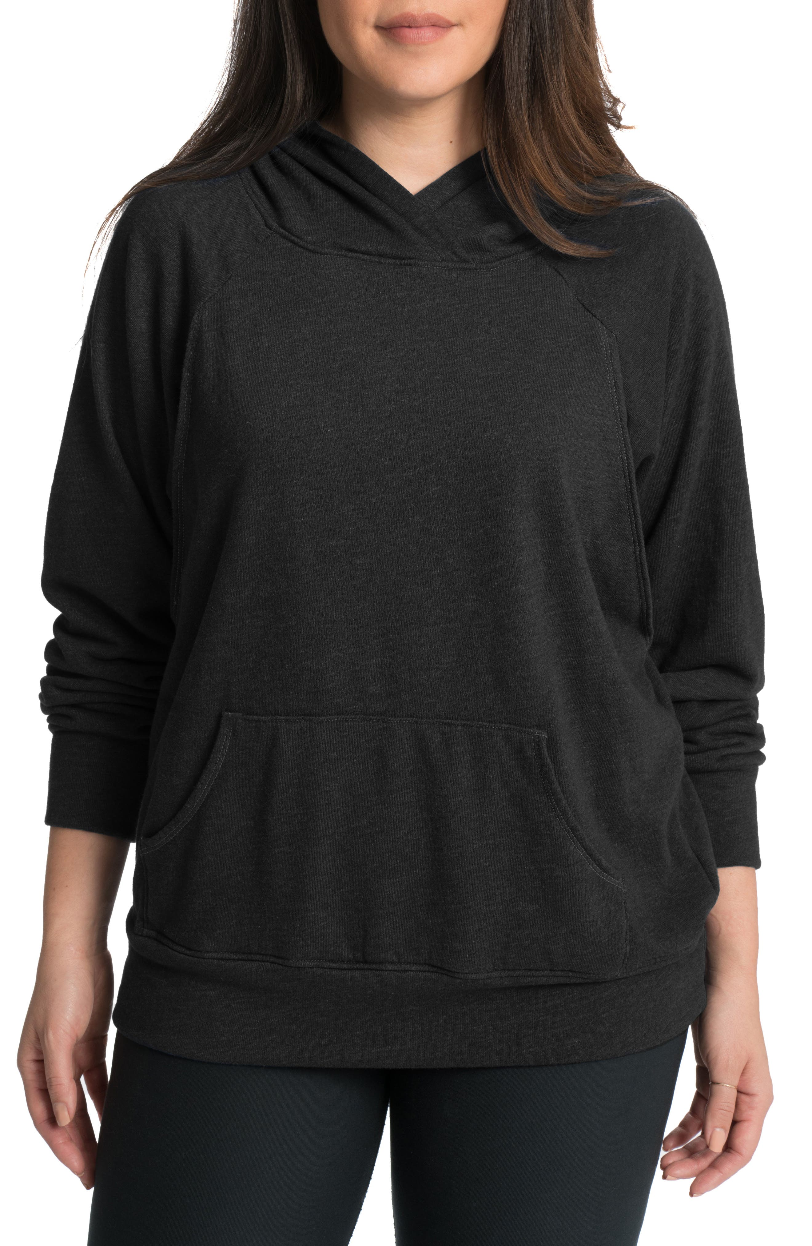 Relaxed Daily Maternity Nursing Hoodie,                             Main thumbnail 1, color,                             019