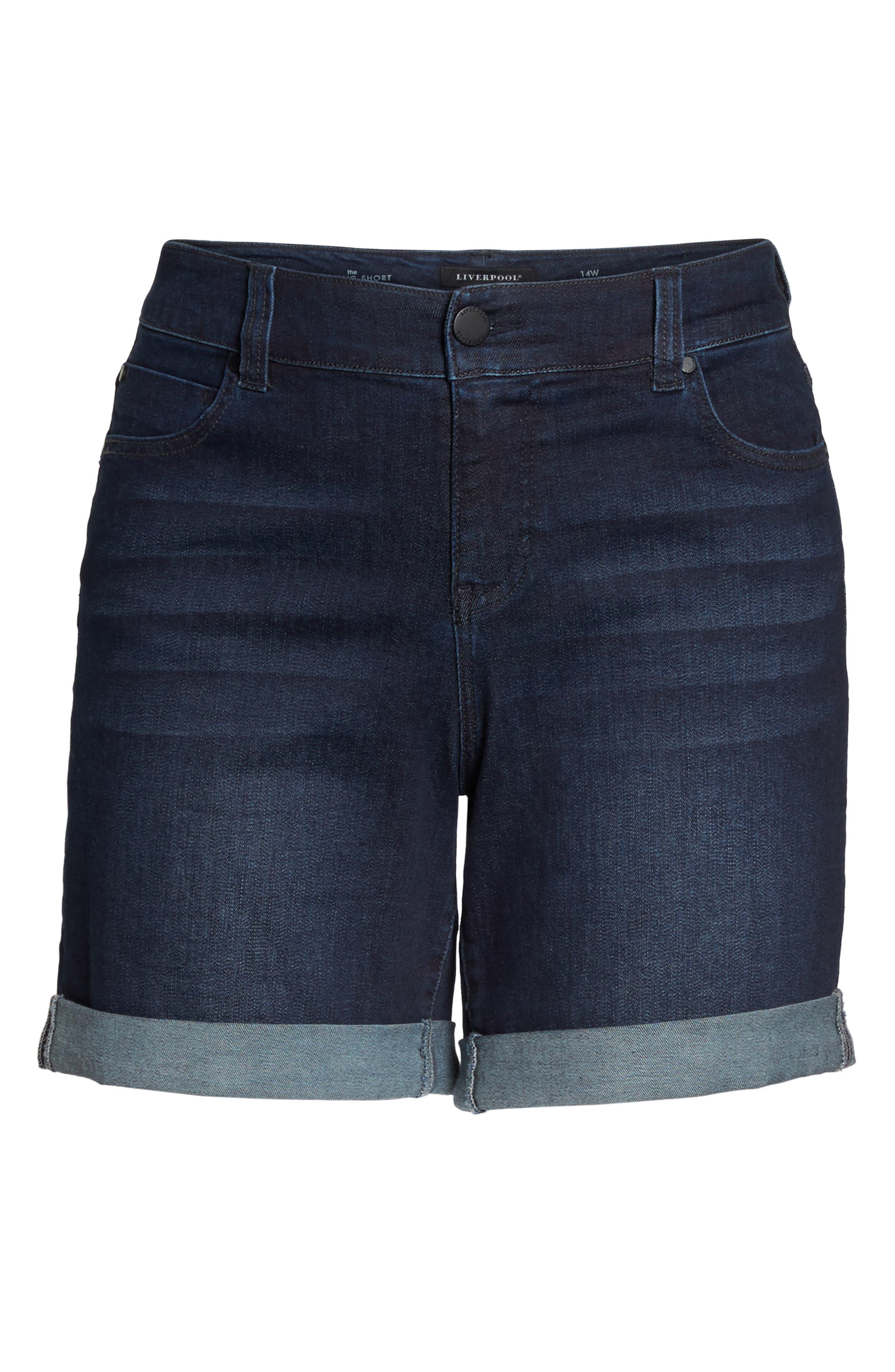 Corine Denim Shorts,                             Alternate thumbnail 7, color,                             401