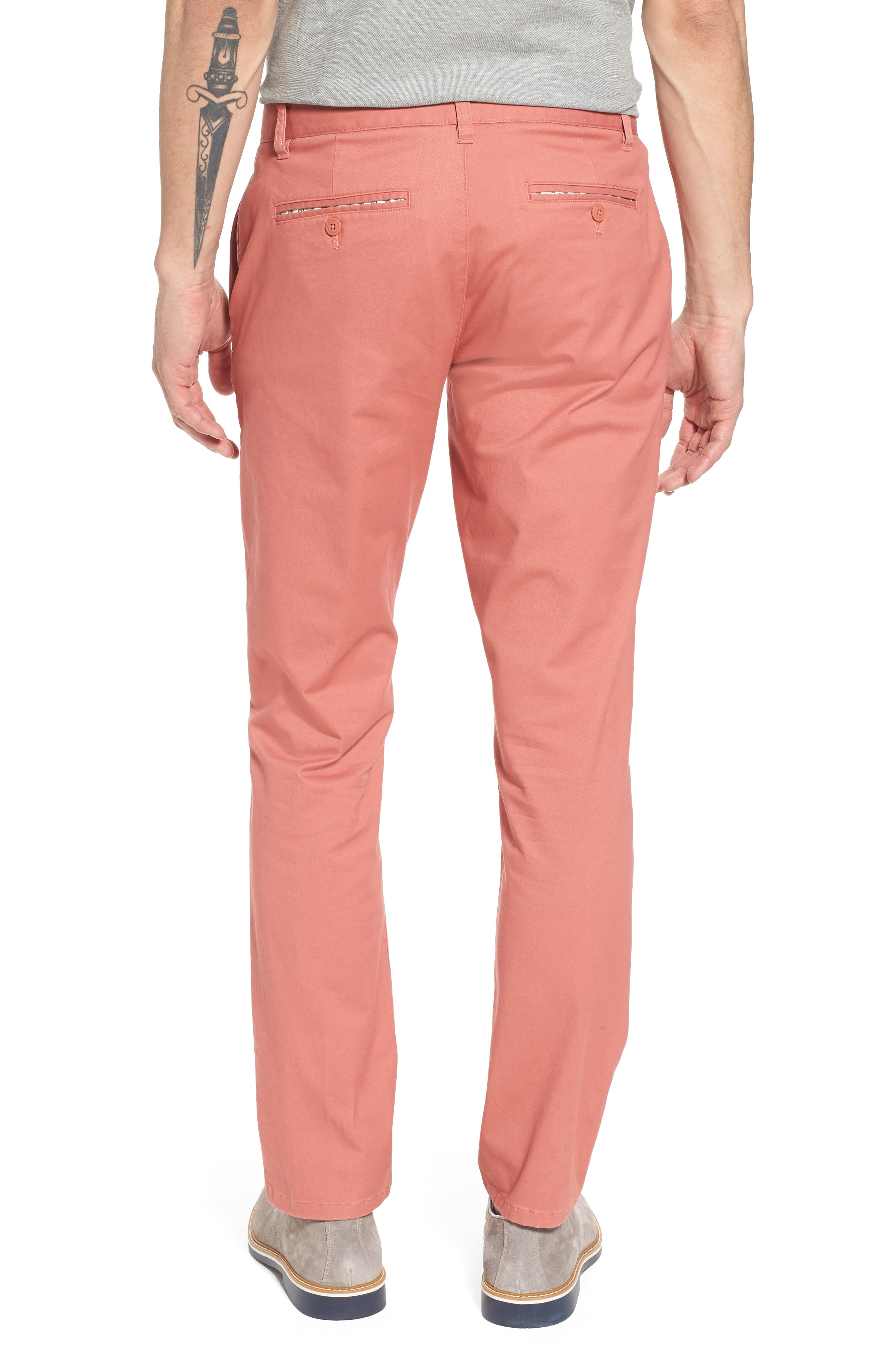 Tailored Fit Washed Stretch Cotton Chinos,                             Alternate thumbnail 59, color,
