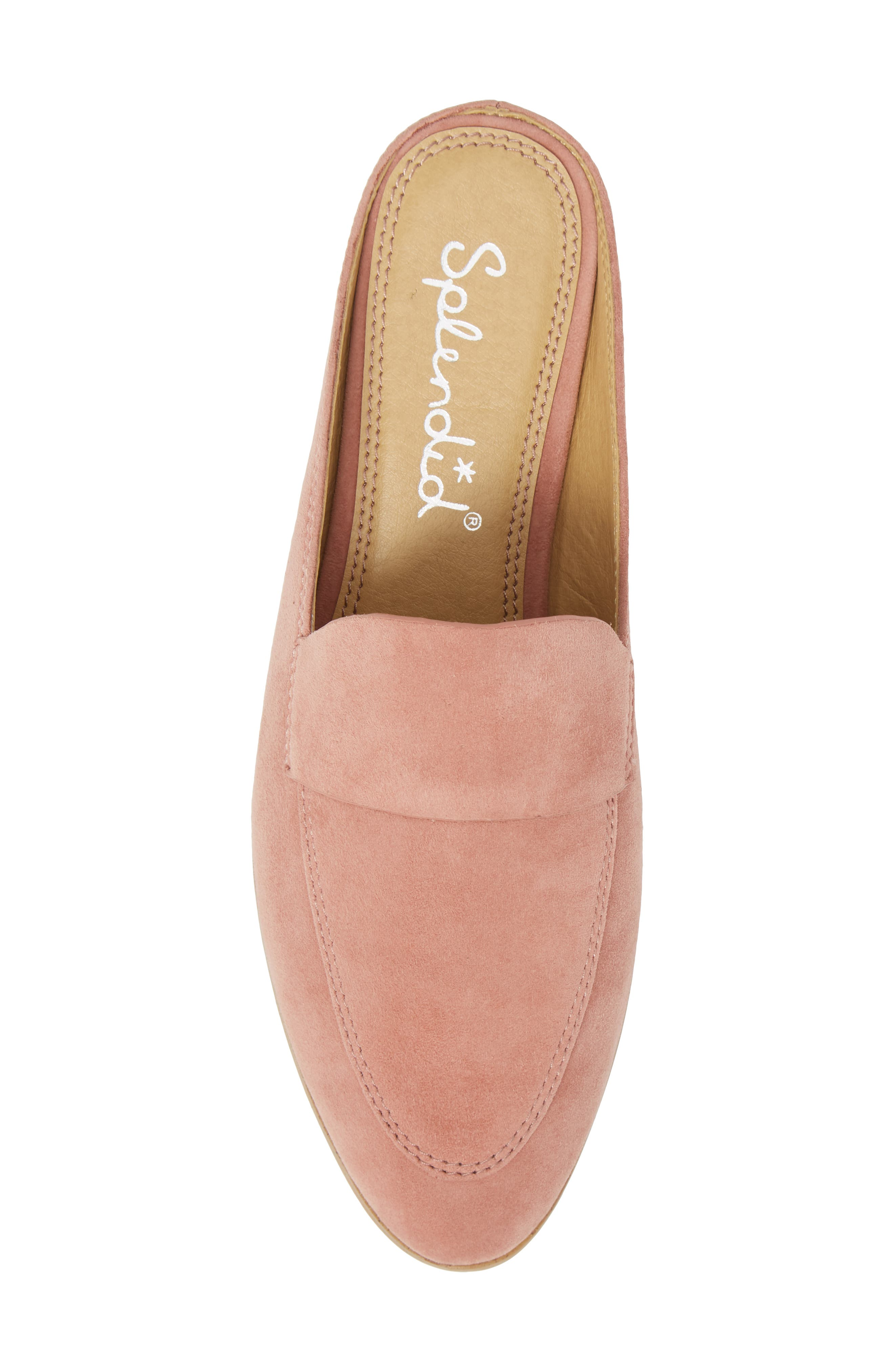 Nima Loafer Mule,                             Alternate thumbnail 5, color,                             ROSE TAUPE SUEDE