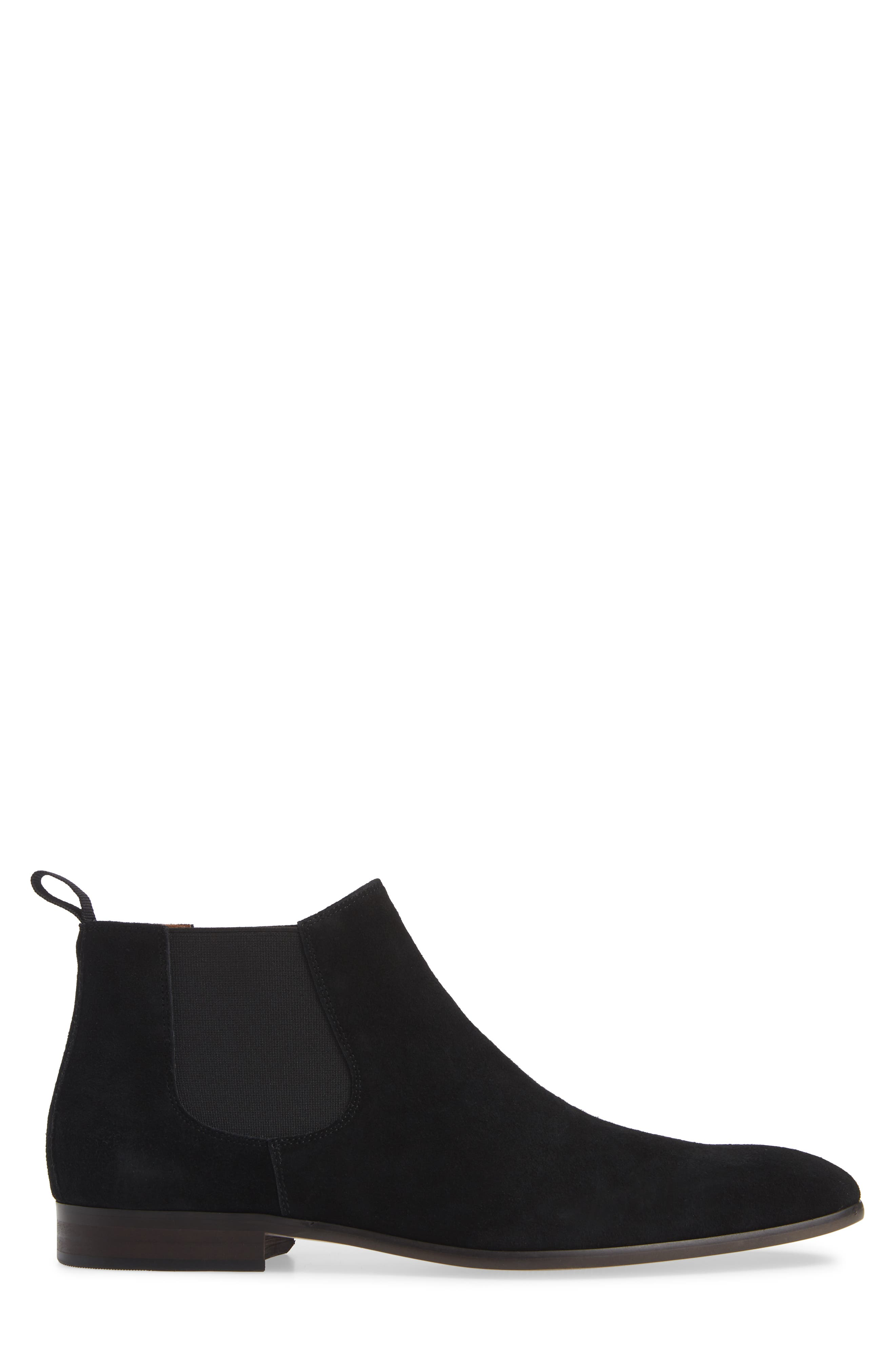 Edward Chelsea Boot,                             Alternate thumbnail 3, color,                             BLACK SUEDE