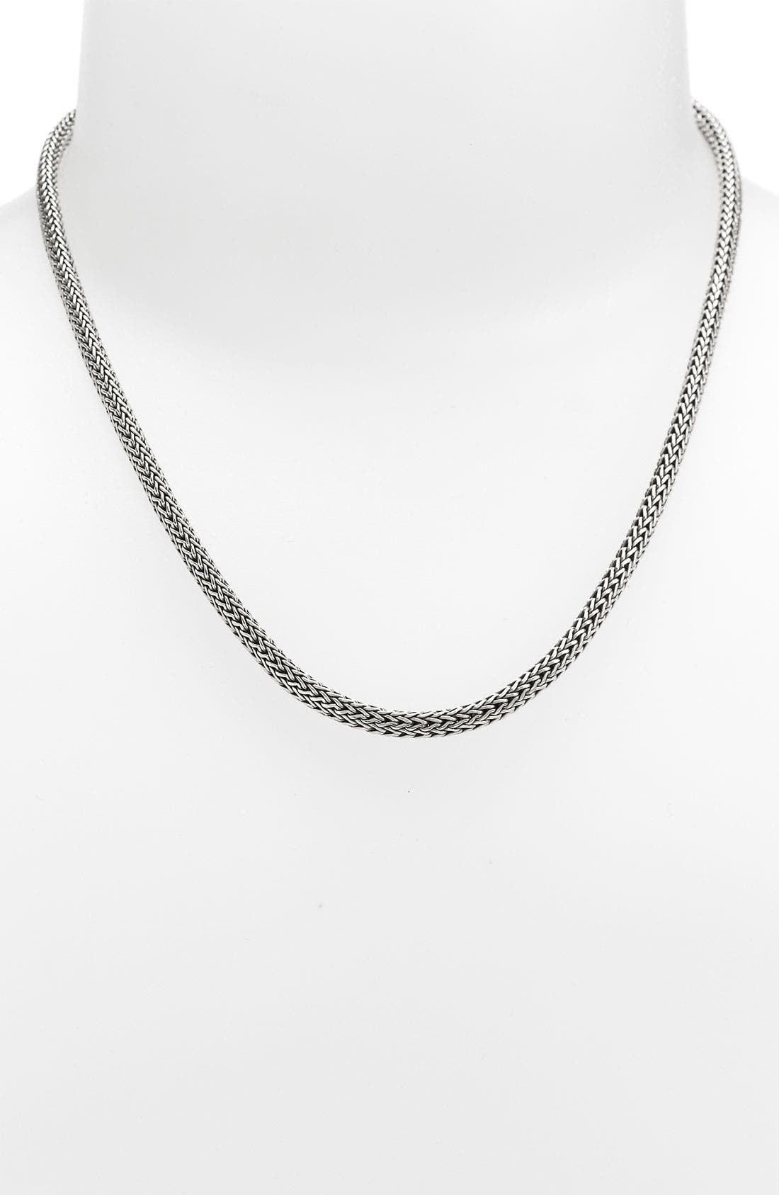 Extra-Small Chain Necklace,                             Alternate thumbnail 3, color,                             SILVER