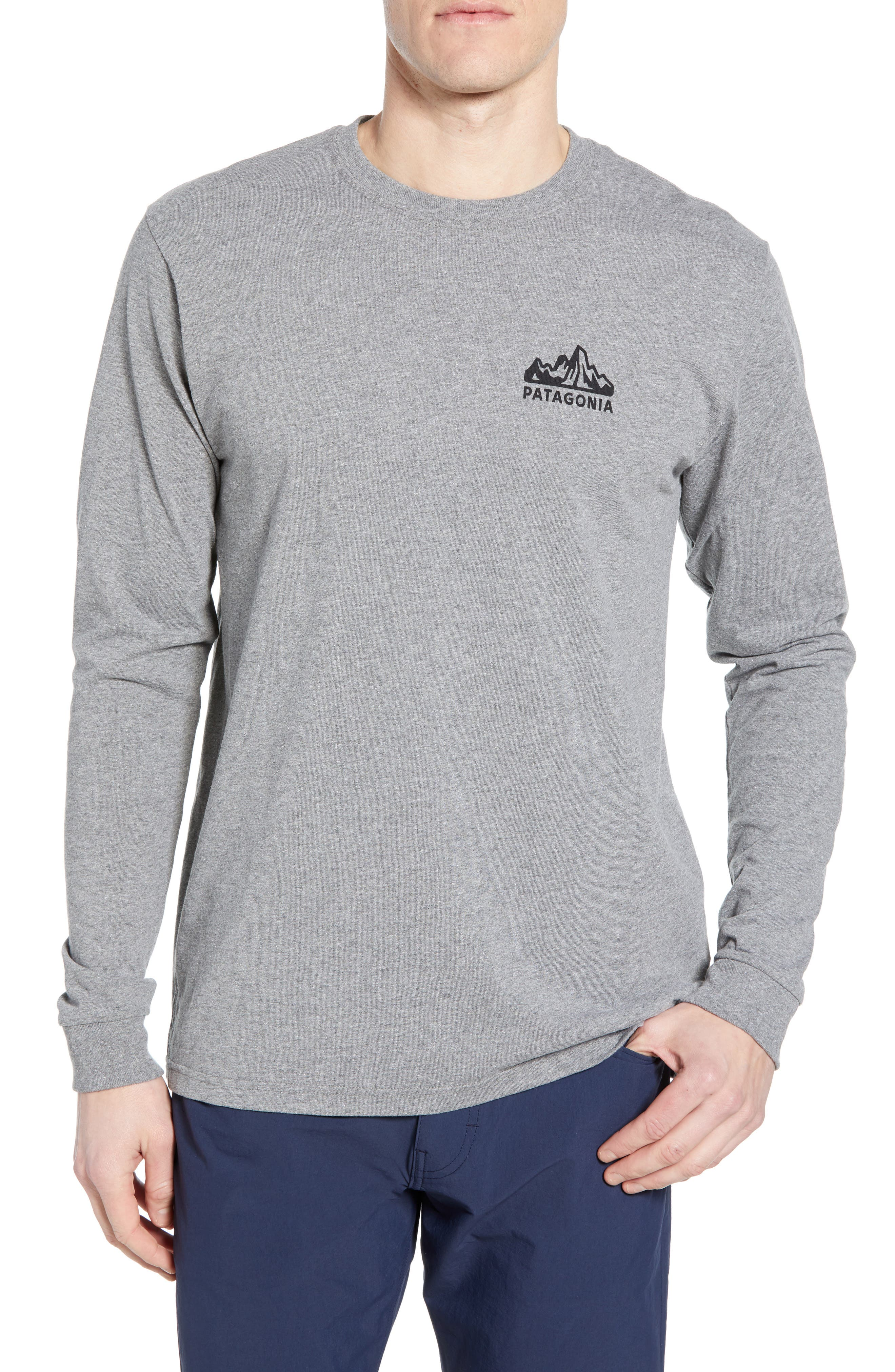 Fitz Roy Scope Long Sleeve Responsibili-Tee T-Shirt, Main, color, GRAVEL HEATHER