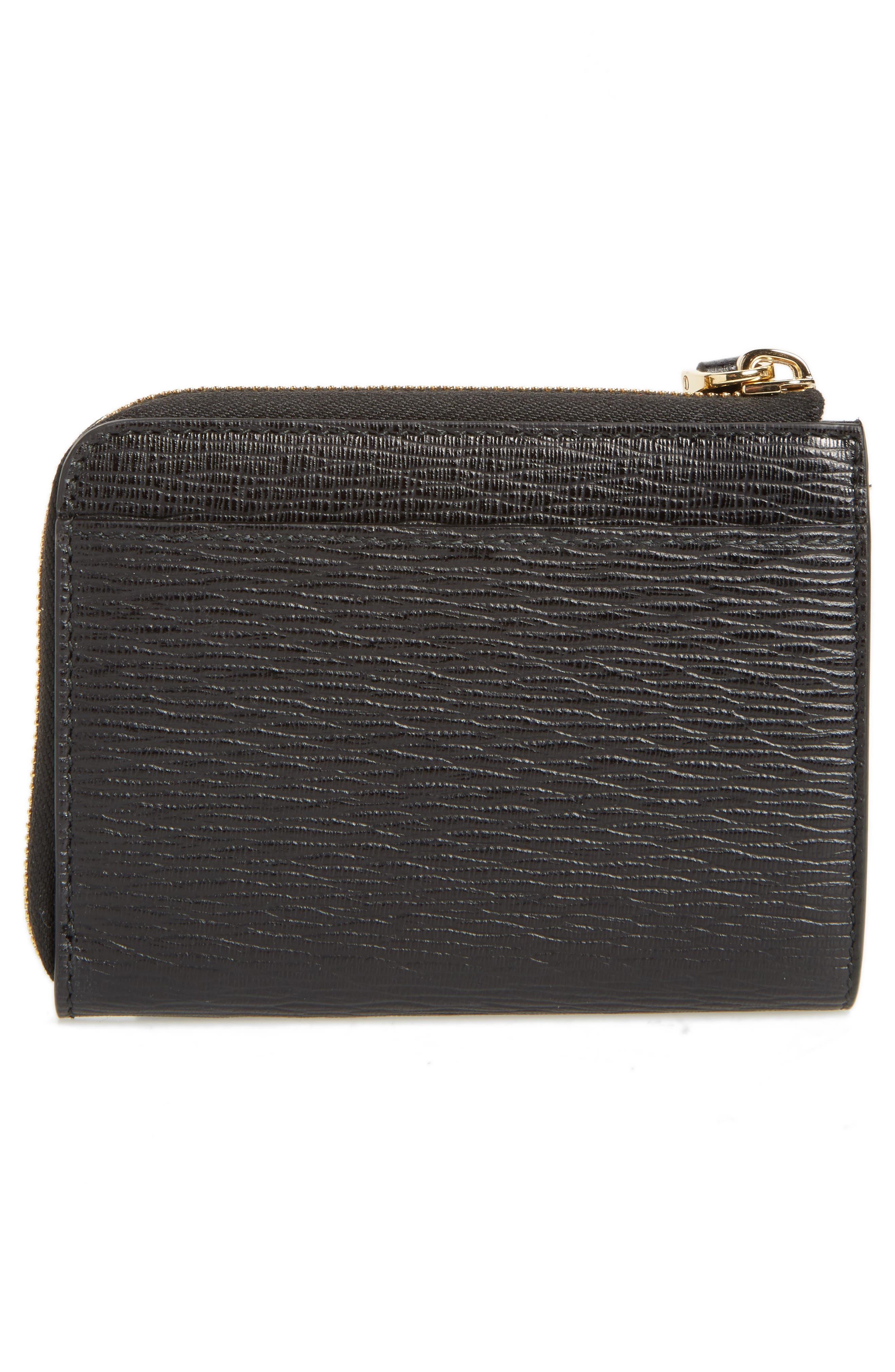 Revival Leather Zip Wallet,                             Alternate thumbnail 3, color,                             001
