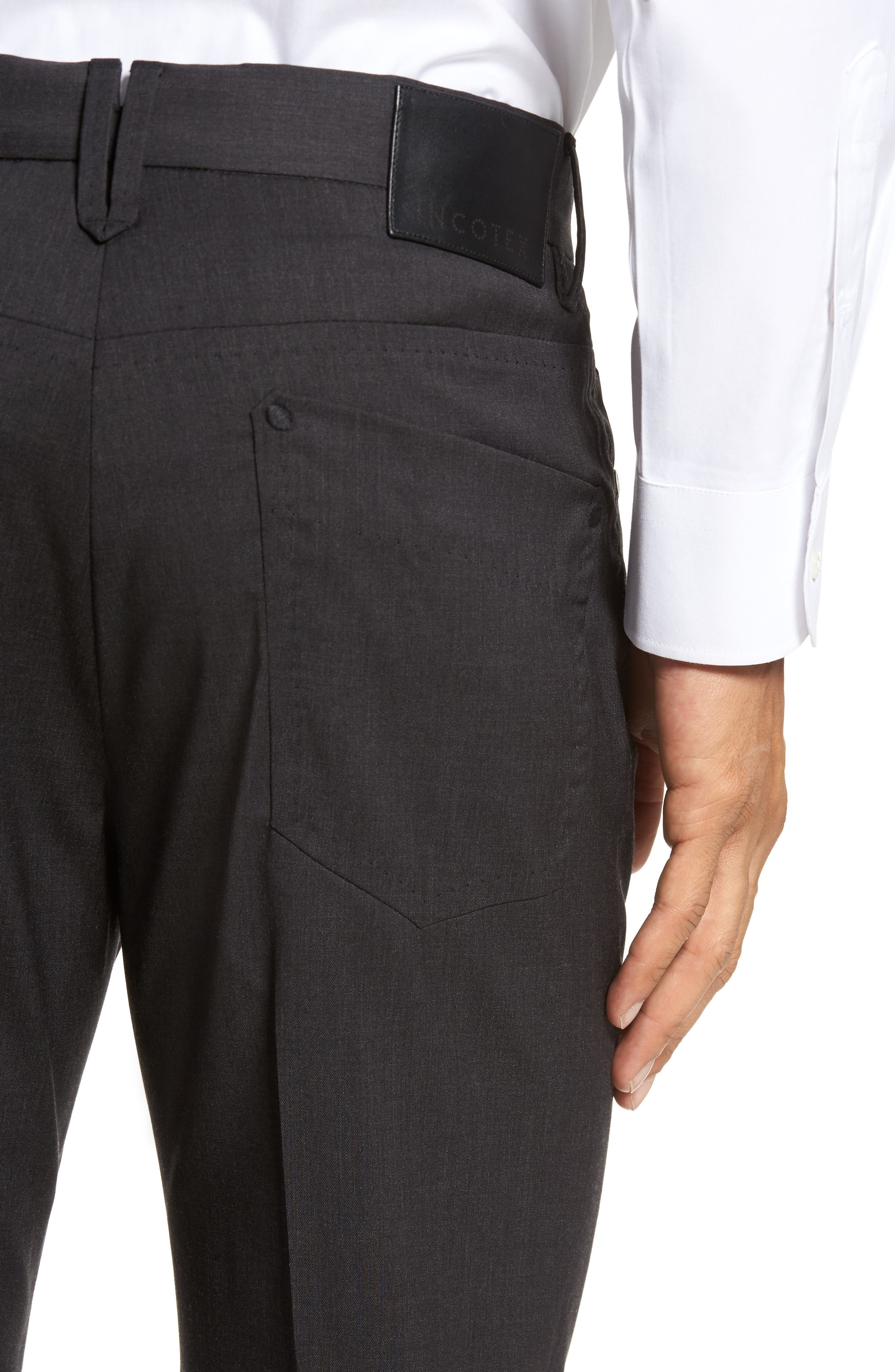Five-Pocket Stretch Wool Pants,                             Alternate thumbnail 4, color,                             015