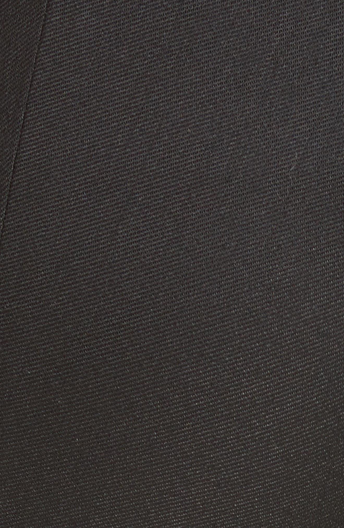 Wool Blend Skinny Pants,                             Alternate thumbnail 5, color,                             001