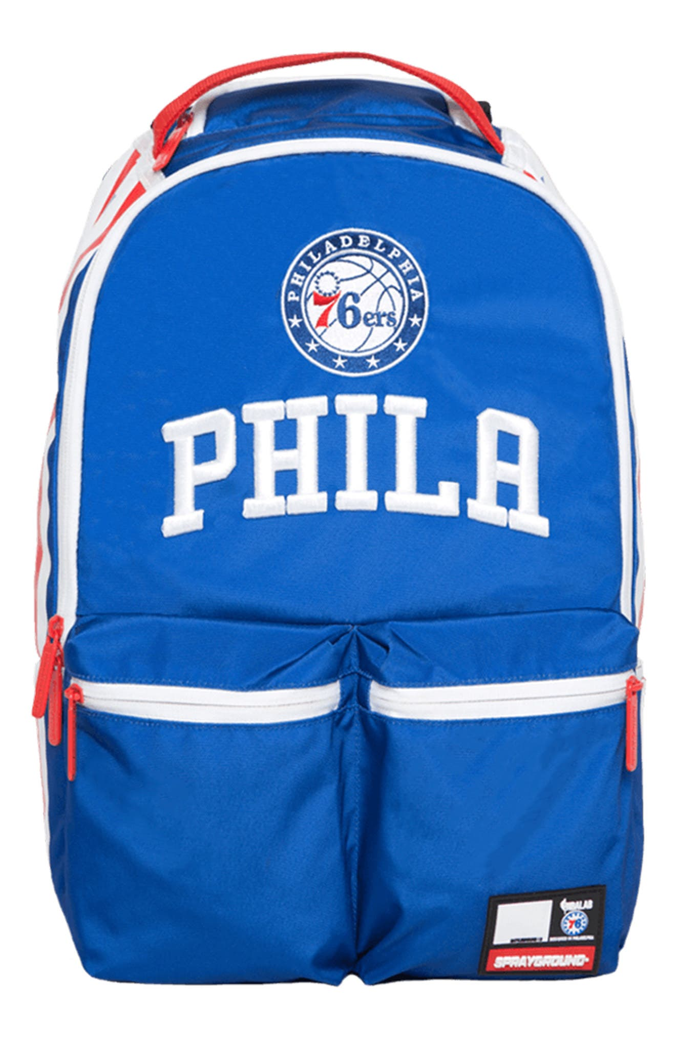 SPRAYGROUND Philadelphia '76Ers Double Cargo Backpack - Blue
