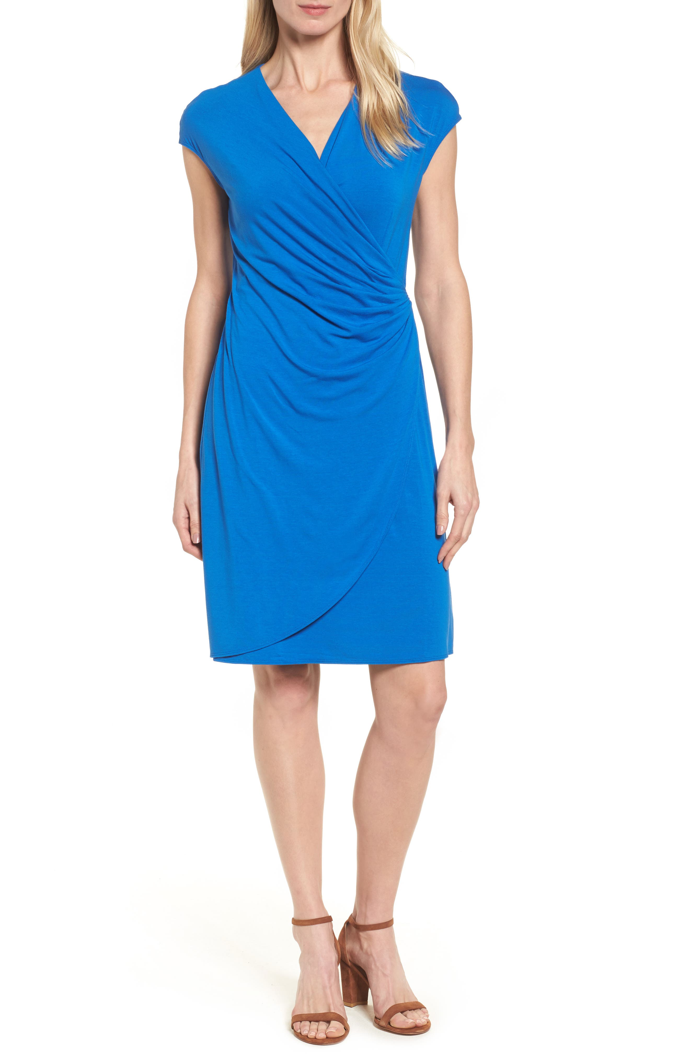 'Tambour' Side Gathered Dress,                             Main thumbnail 3, color,