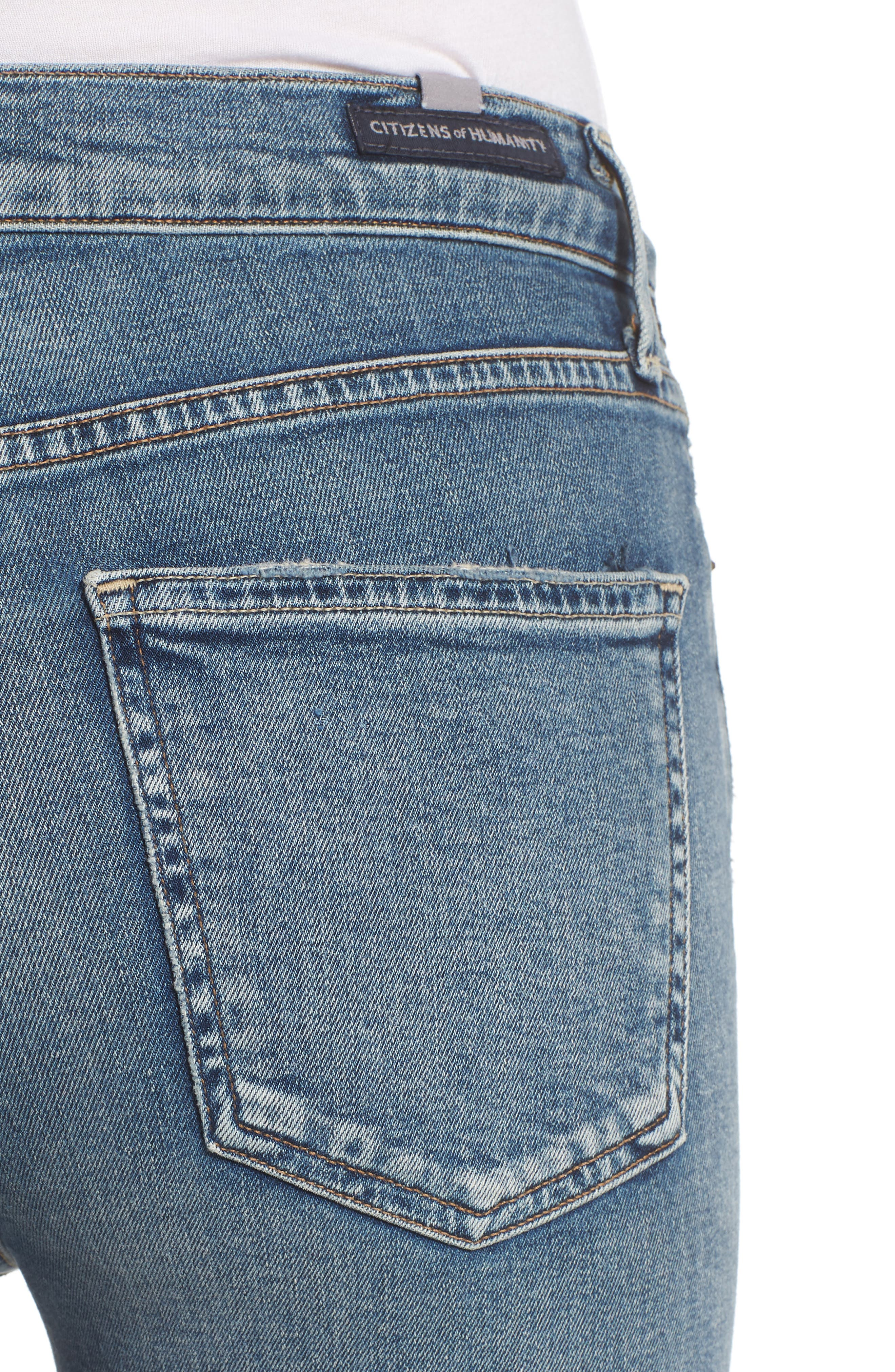 Rocket High Waist Crop Skinny Jeans,                             Alternate thumbnail 4, color,                             427