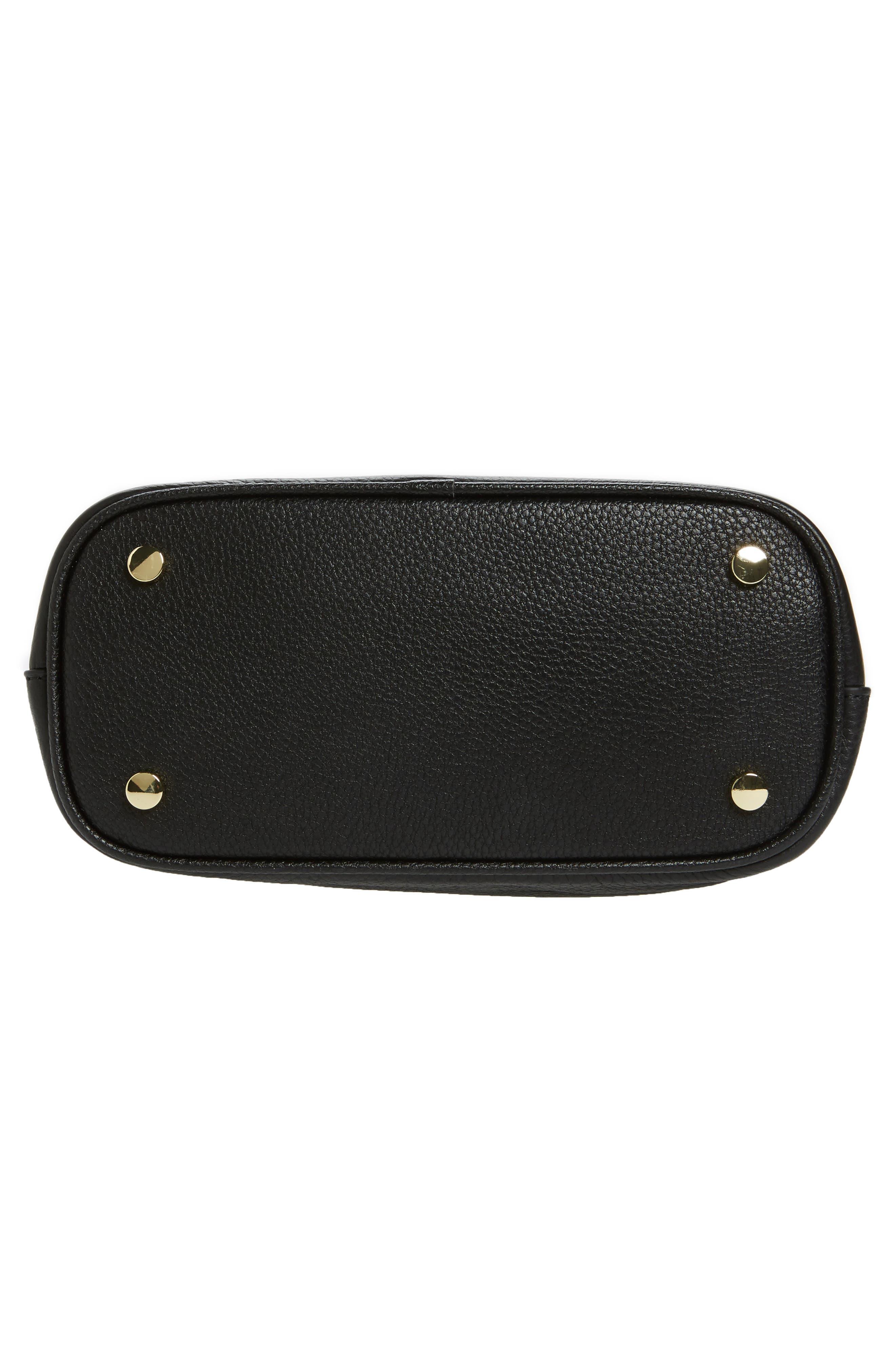 Small Elina Leather Crossbody Bag,                             Alternate thumbnail 6, color,                             001