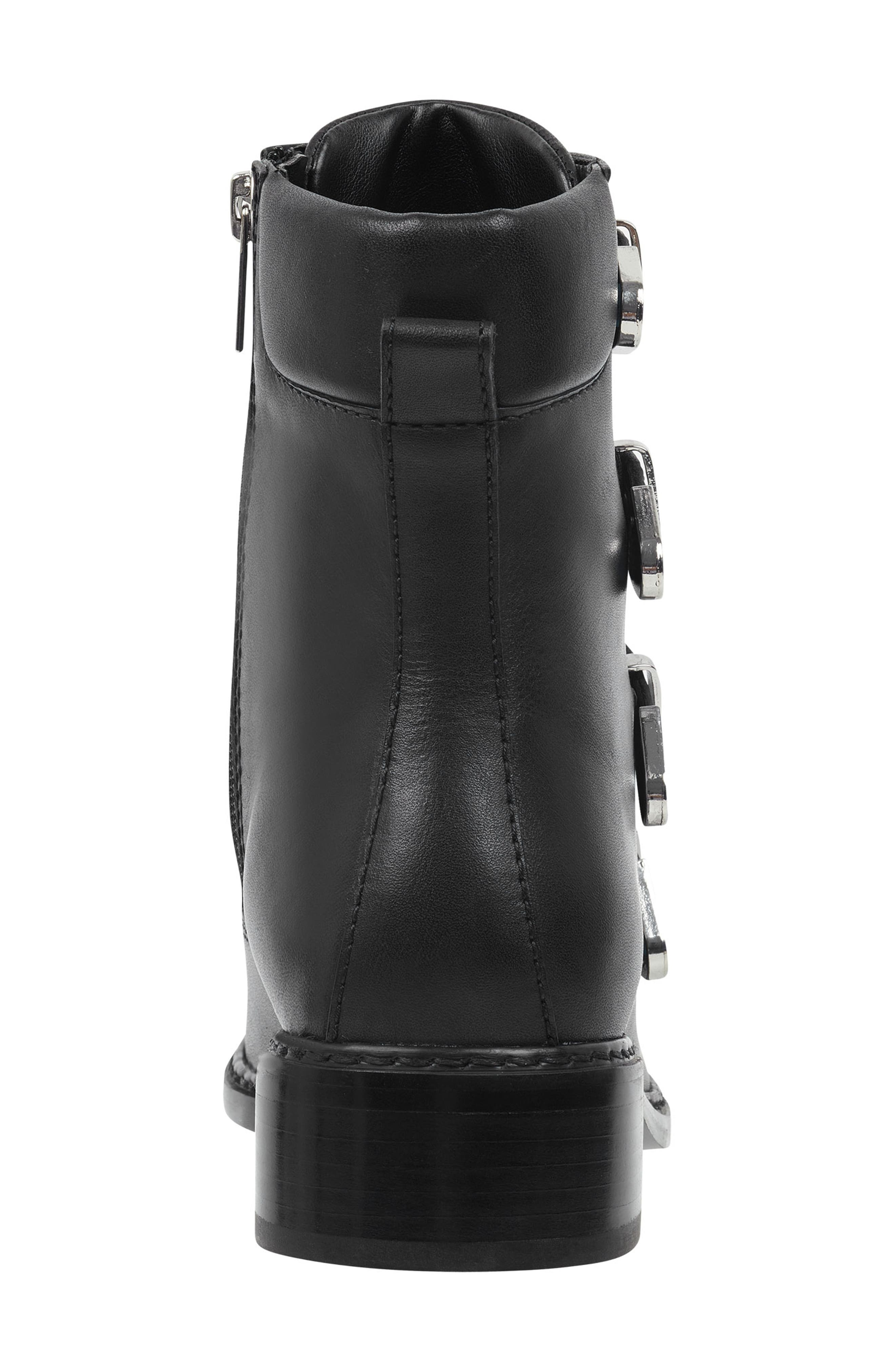 Buckle Boot,                             Alternate thumbnail 7, color,                             BLACK LEATHER
