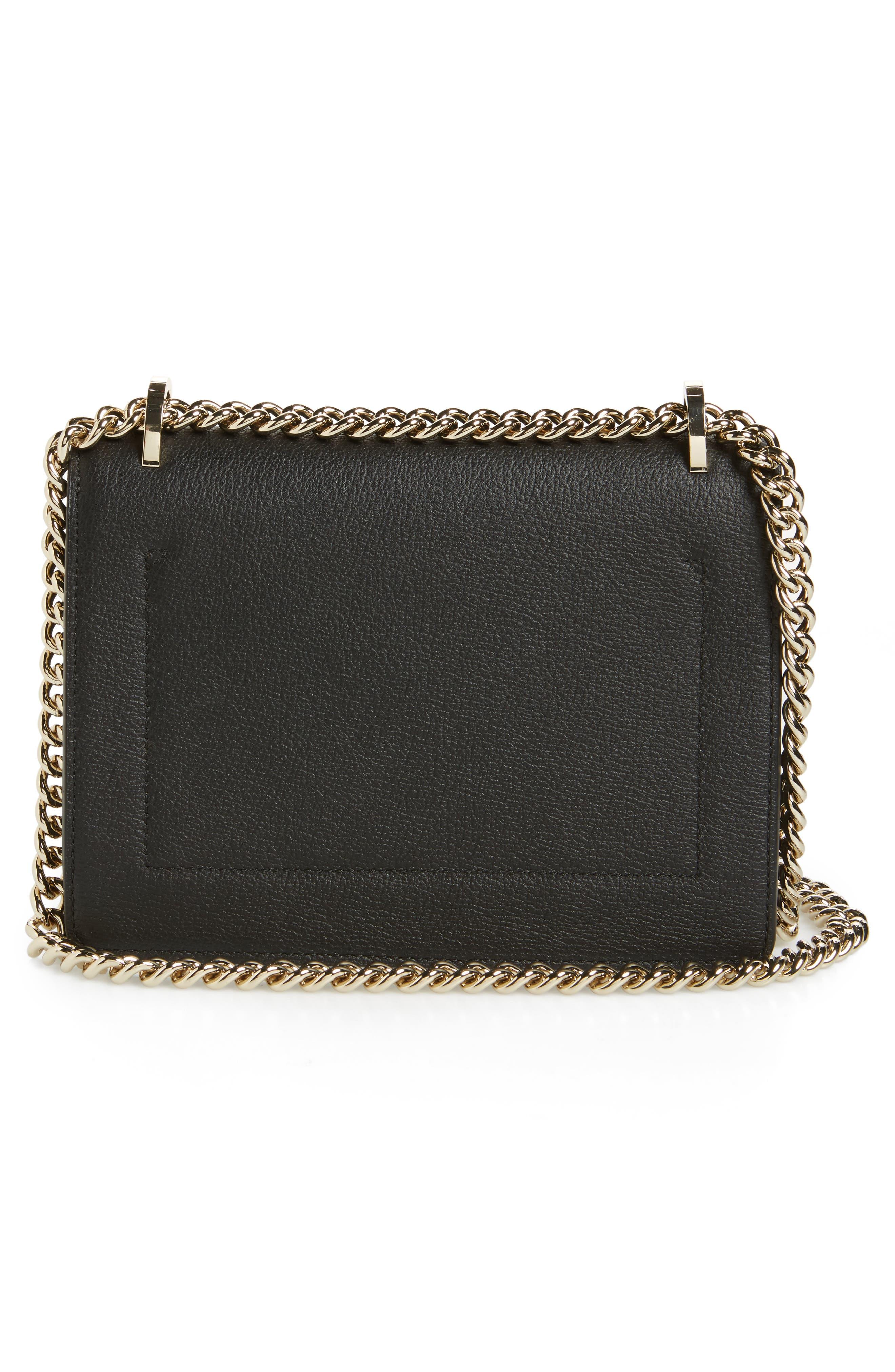 olive drive - marci leather shoulder bag,                             Alternate thumbnail 3, color,                             001