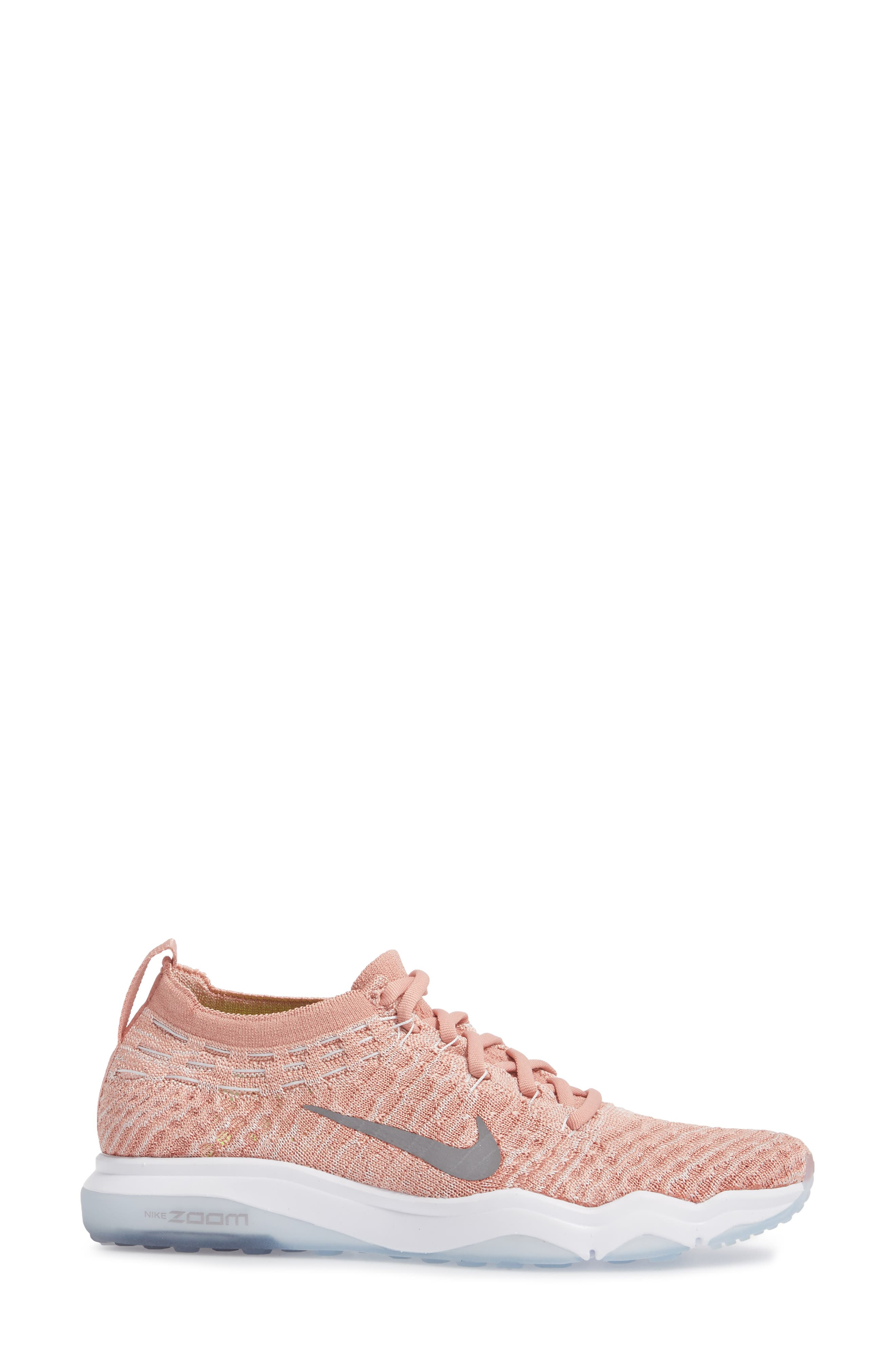 Air Zoom Fearless Flyknit Lux Training Shoe,                             Alternate thumbnail 11, color,
