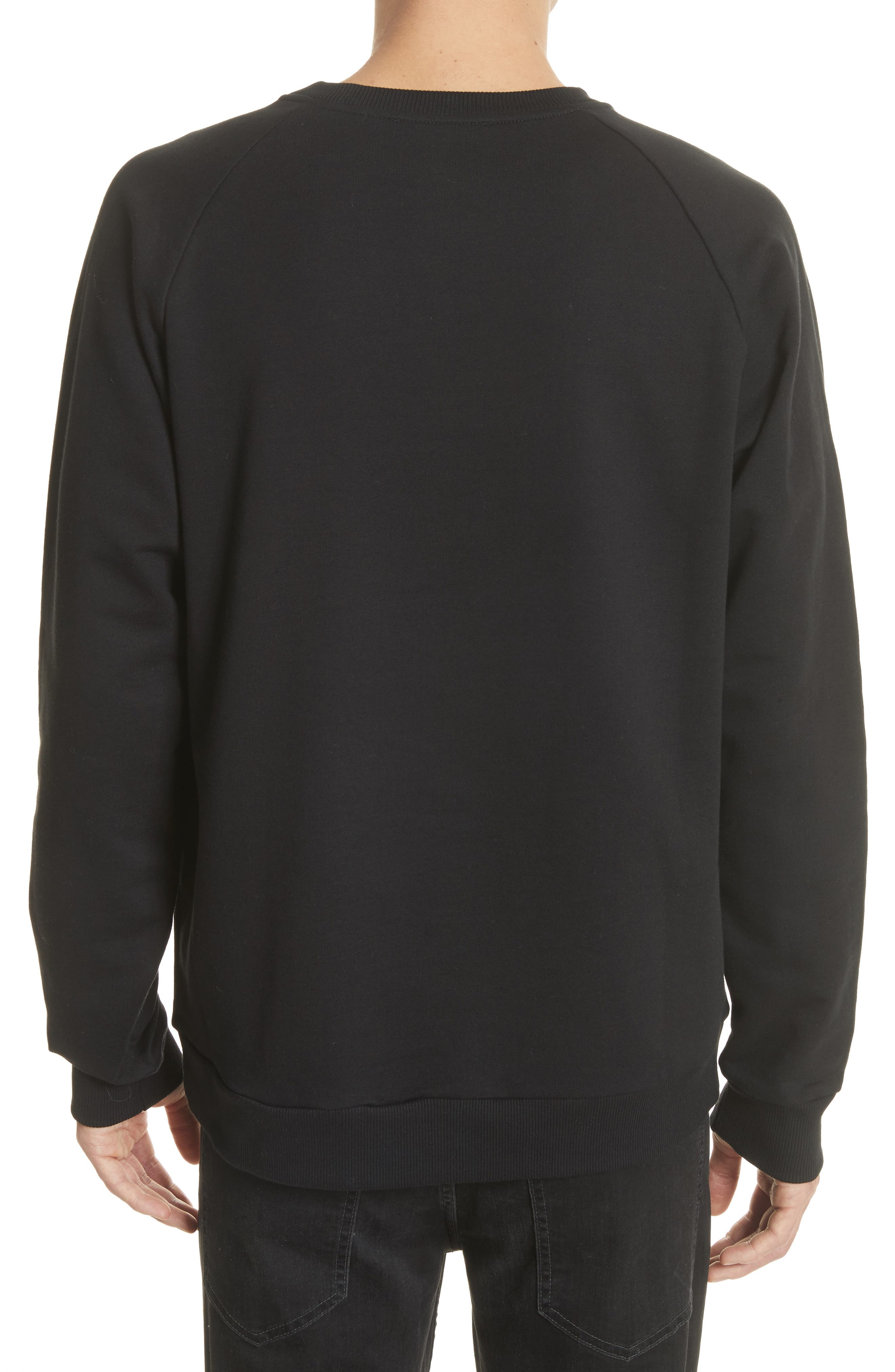 Embroidered Tiger Sweatshirt,                             Alternate thumbnail 2, color,                             001