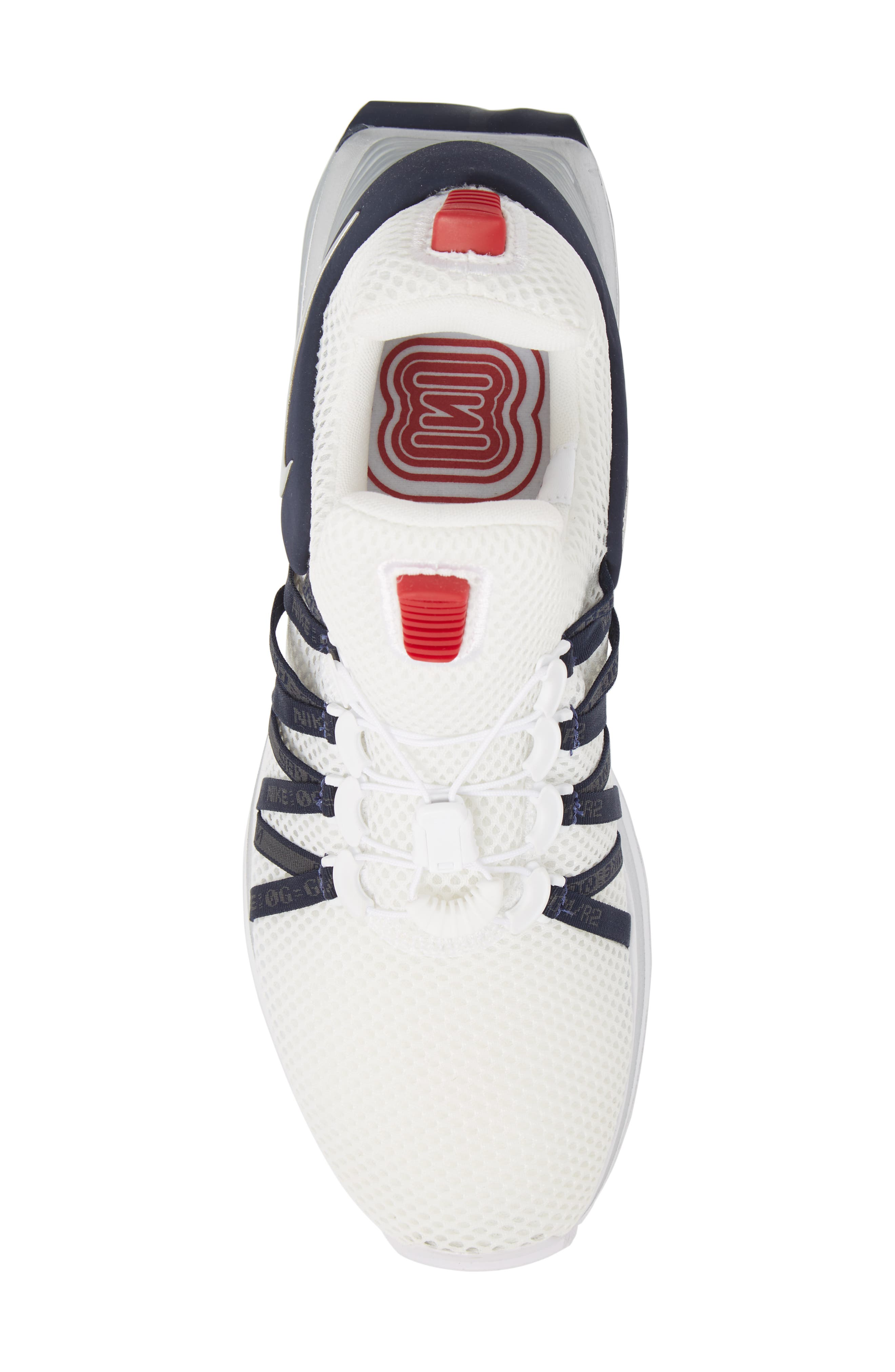 Shox Gravity Sneaker,                             Alternate thumbnail 5, color,                             WHITE/ METALLIC SILVER