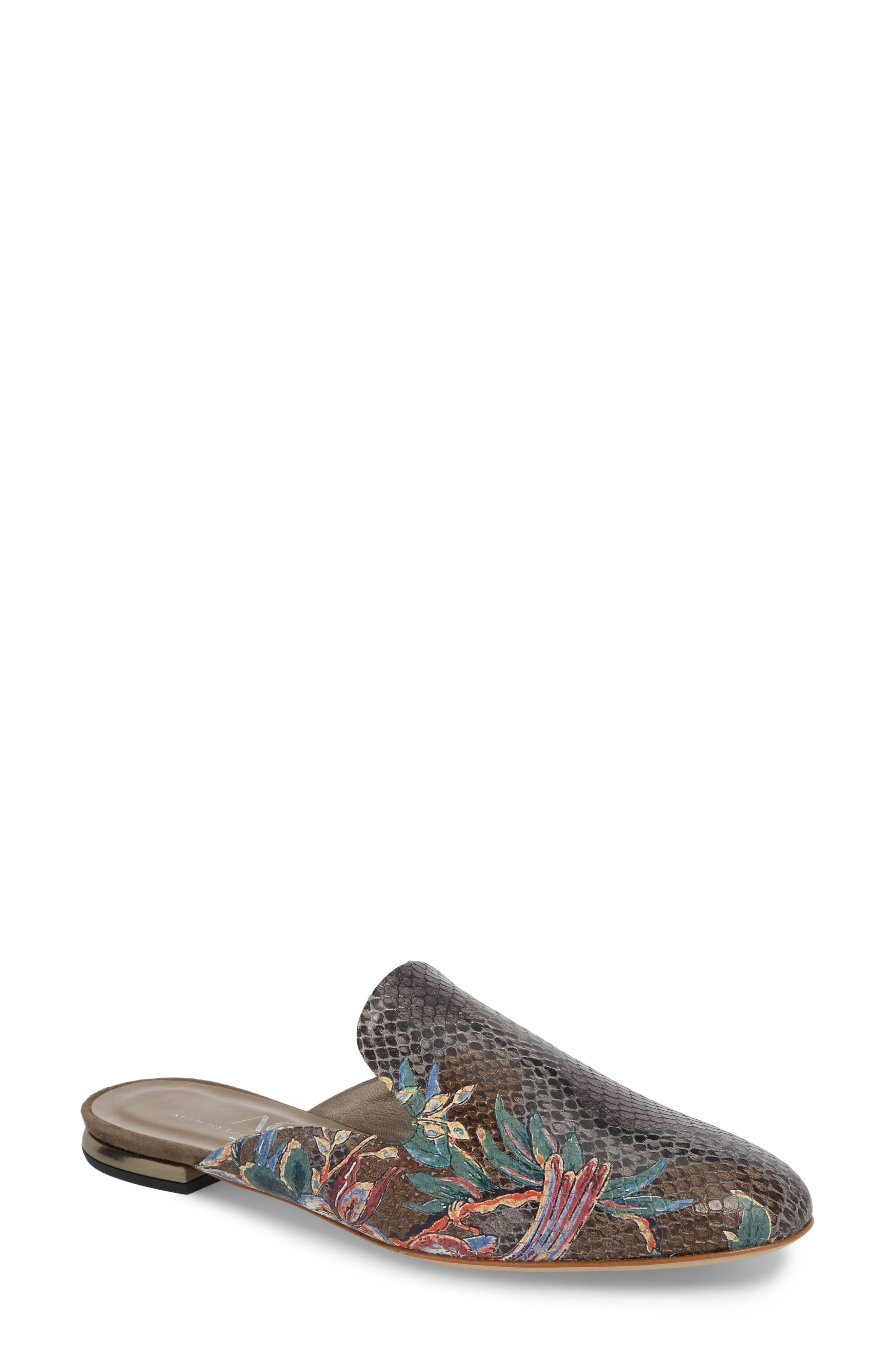 Mule,                             Main thumbnail 1, color,                             TAUPE PRINT LEATHER