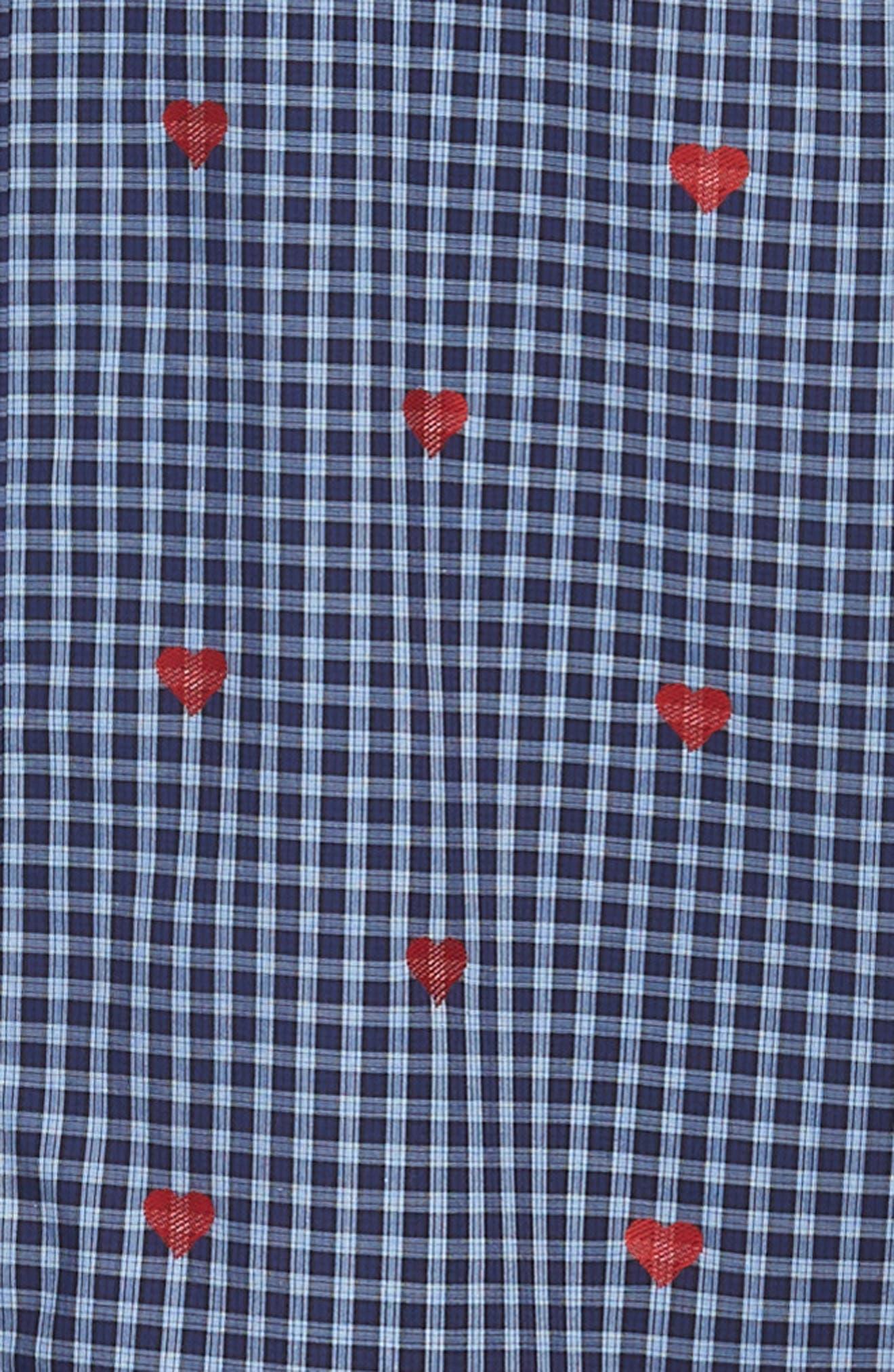 Shaped Fit Sport Shirt,                             Alternate thumbnail 6, color,                             NAVY