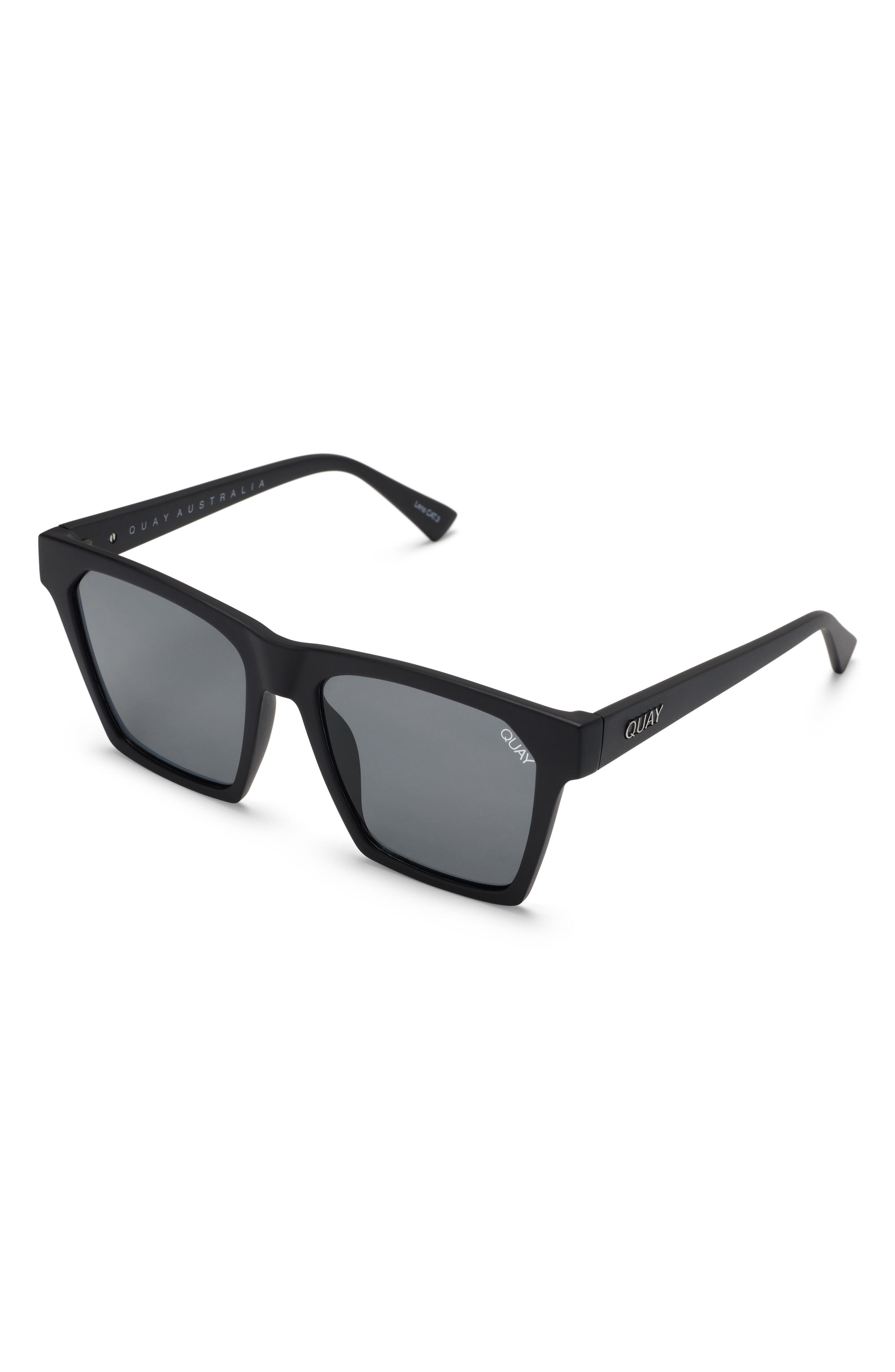 x Missguided Alright 55mm Square Sunglasses,                             Alternate thumbnail 5, color,                             001