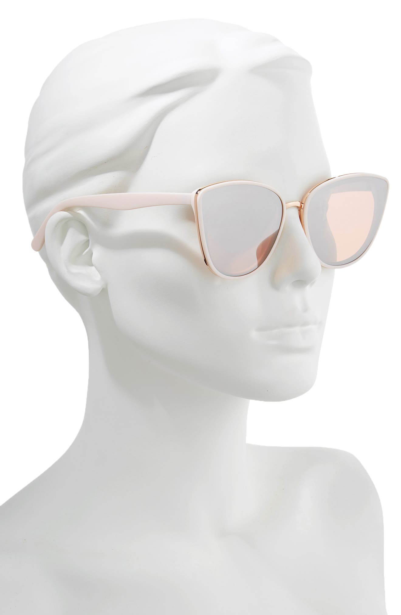 59mm Perfect Cat Eye Sunglasses,                             Alternate thumbnail 2, color,                             PINK