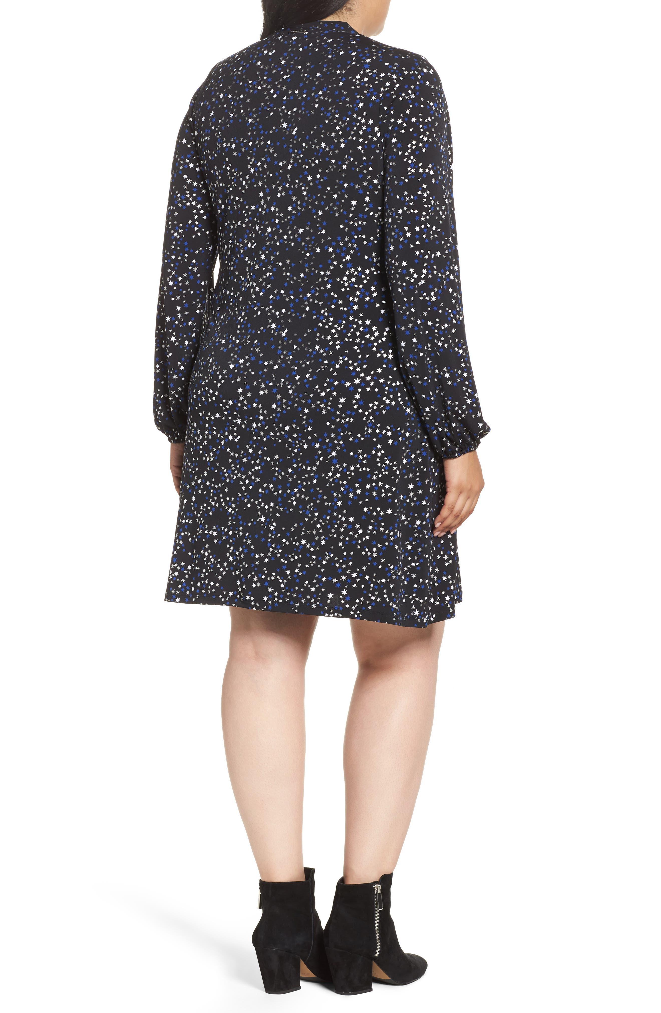 Foil Star A-Line Dress,                             Alternate thumbnail 2, color,