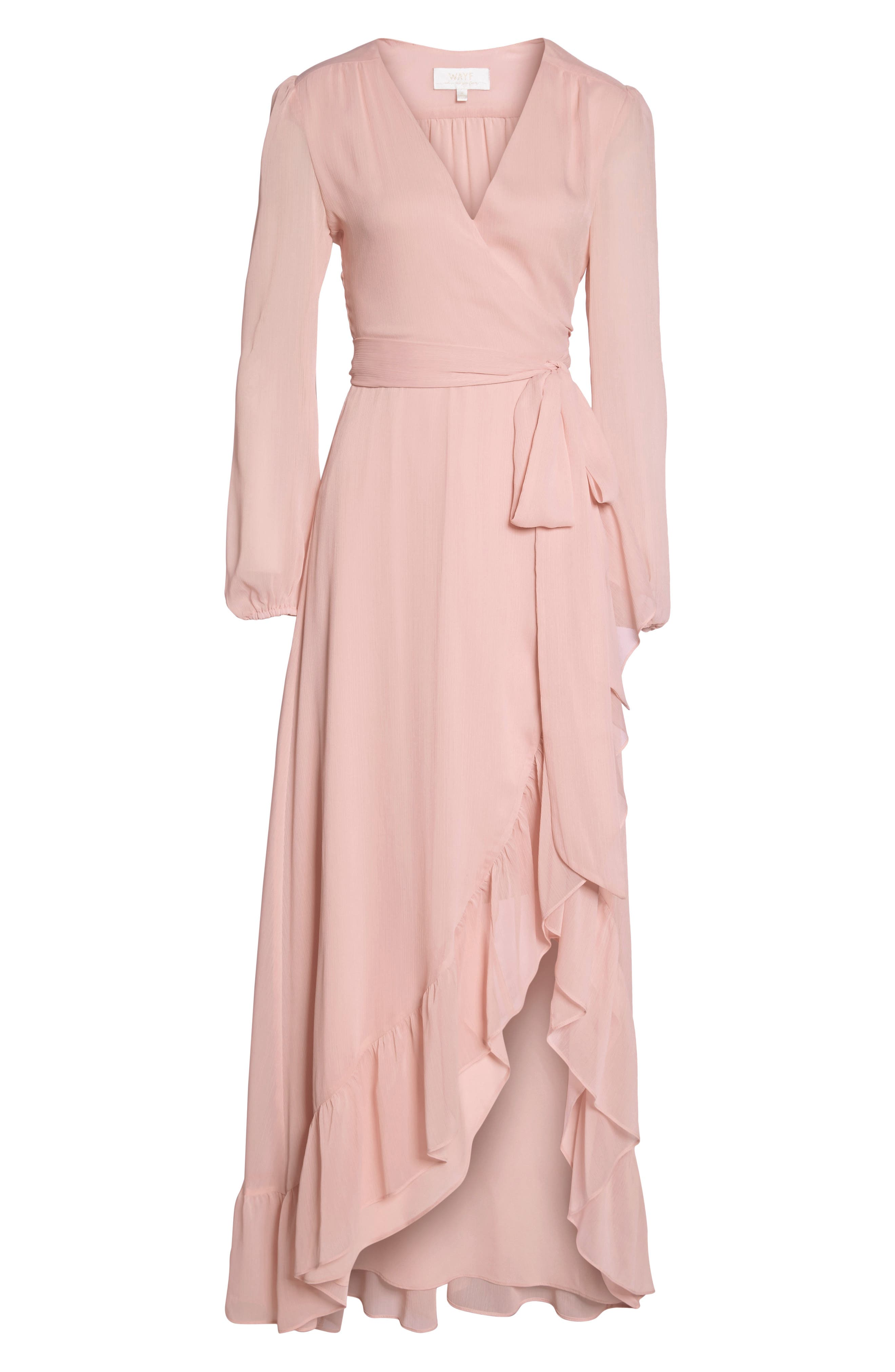 Meryl Long Sleeve Wrap Maxi Dress,                             Alternate thumbnail 8, color,                             650