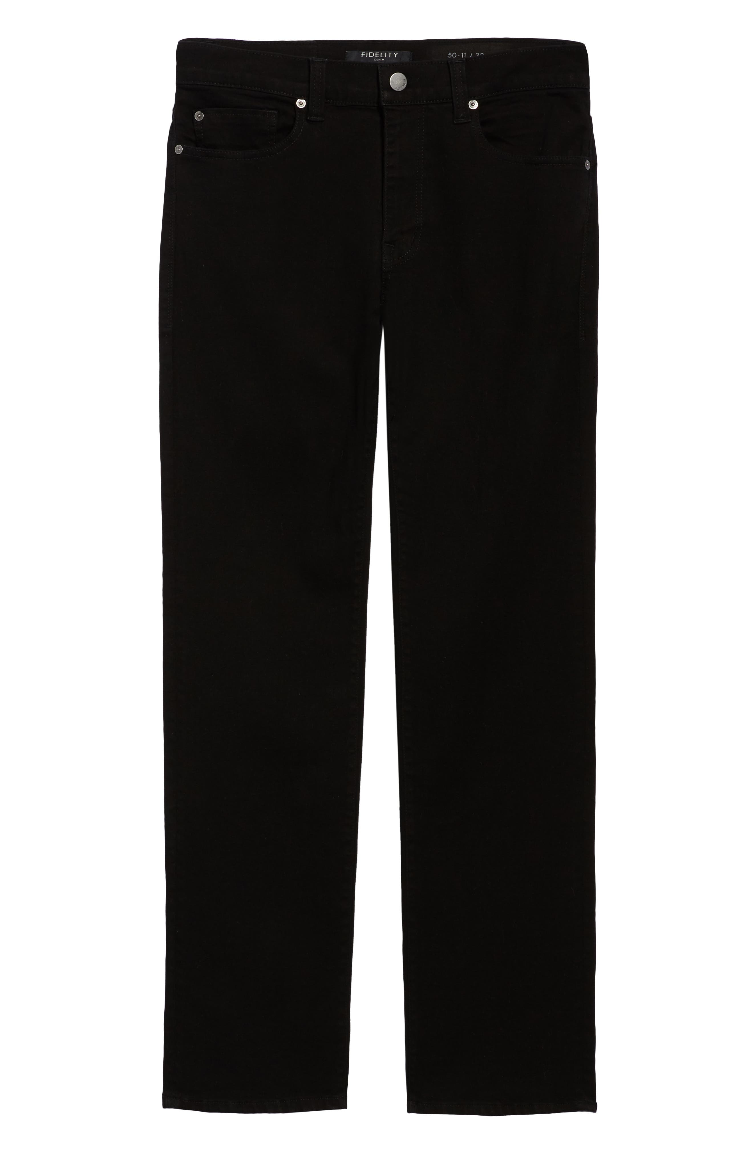50-11 Relaxed Fit Jeans,                             Alternate thumbnail 6, color,                             GOTHAM BLACK