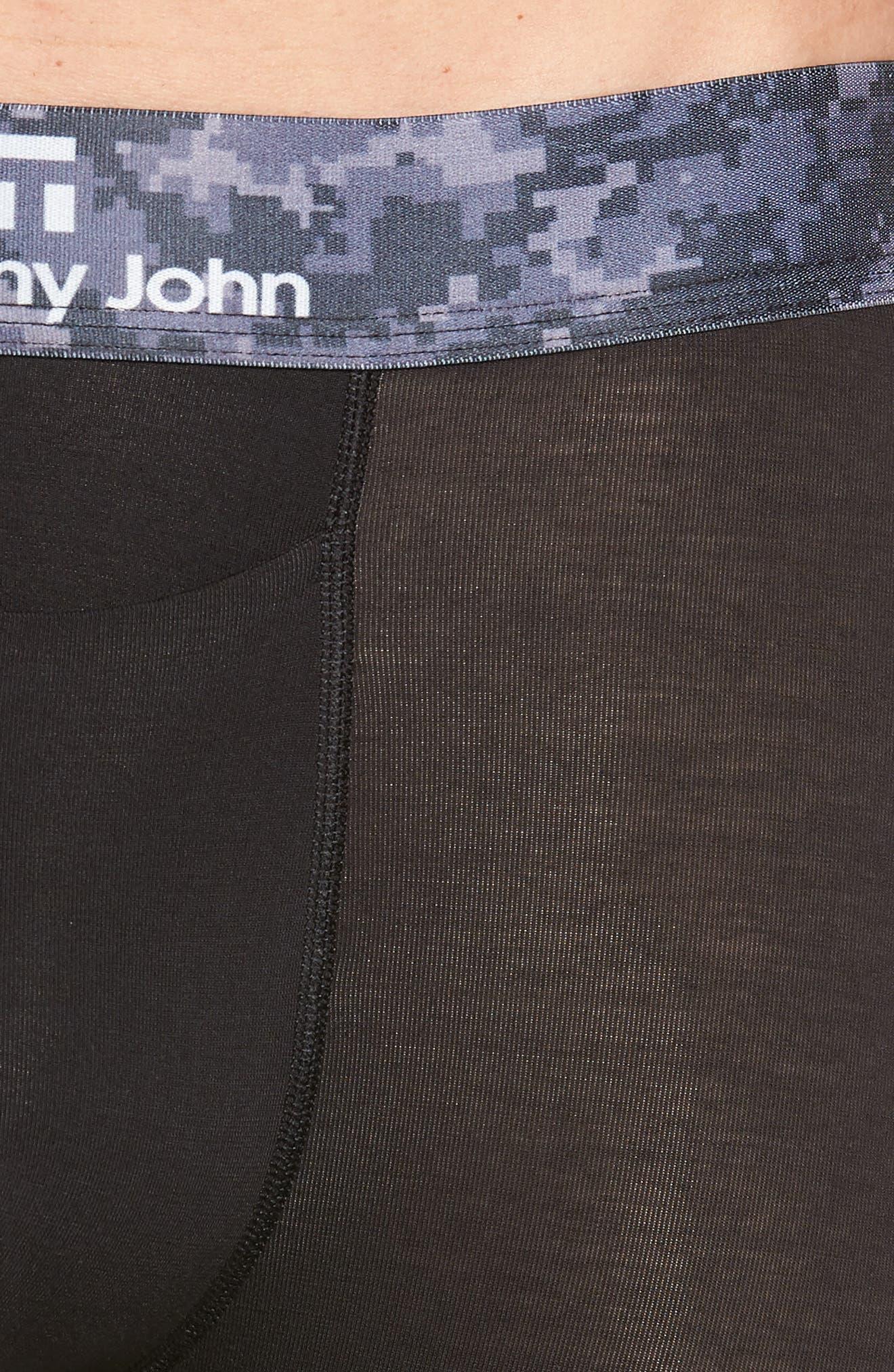 Second Skin Digital Camo Boxer Briefs,                             Alternate thumbnail 4, color,                             BLACK