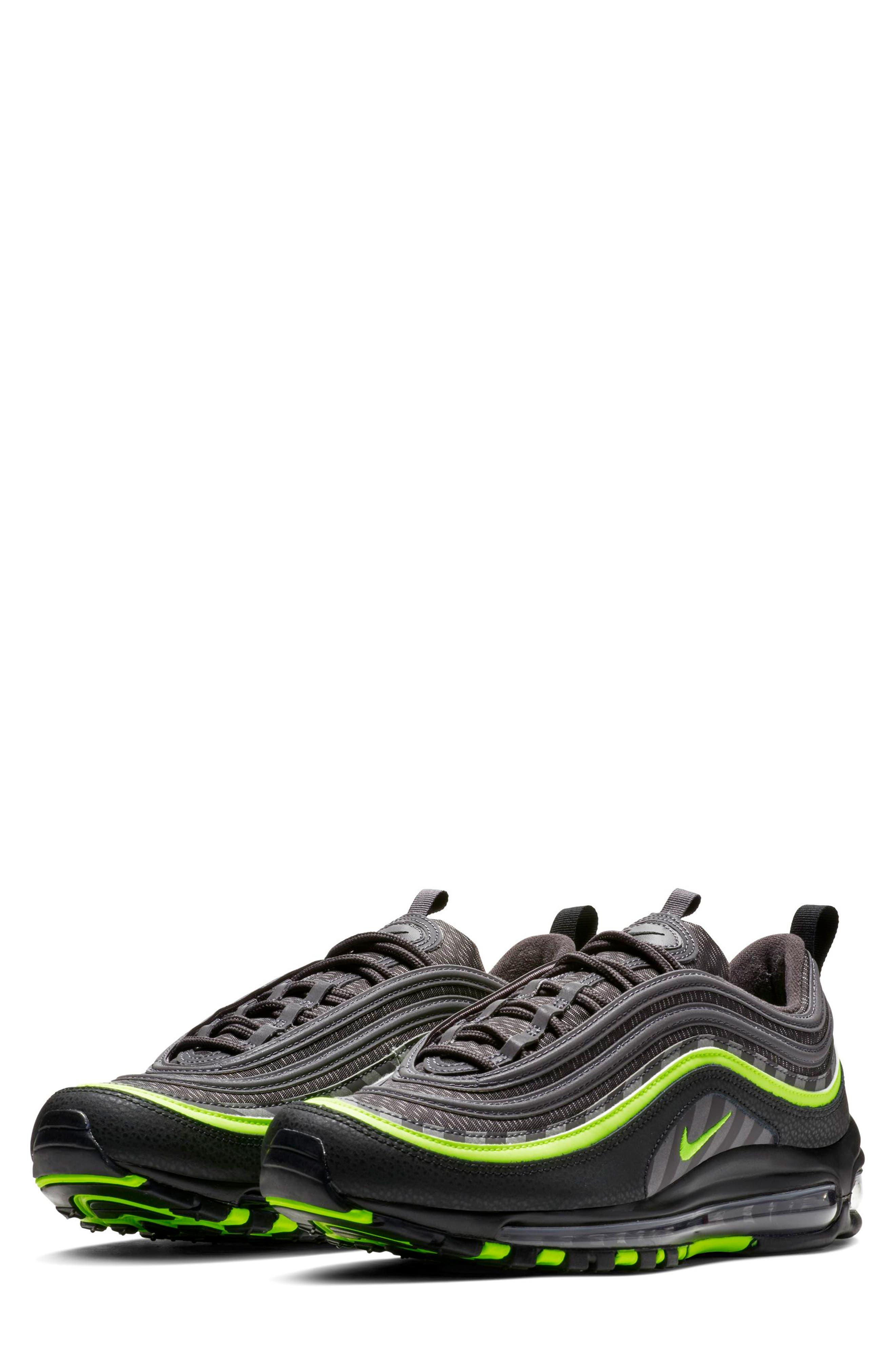 Air Max 97 Sneaker,                             Main thumbnail 1, color,                             THUNDER GREY/ LIME/ BLACK