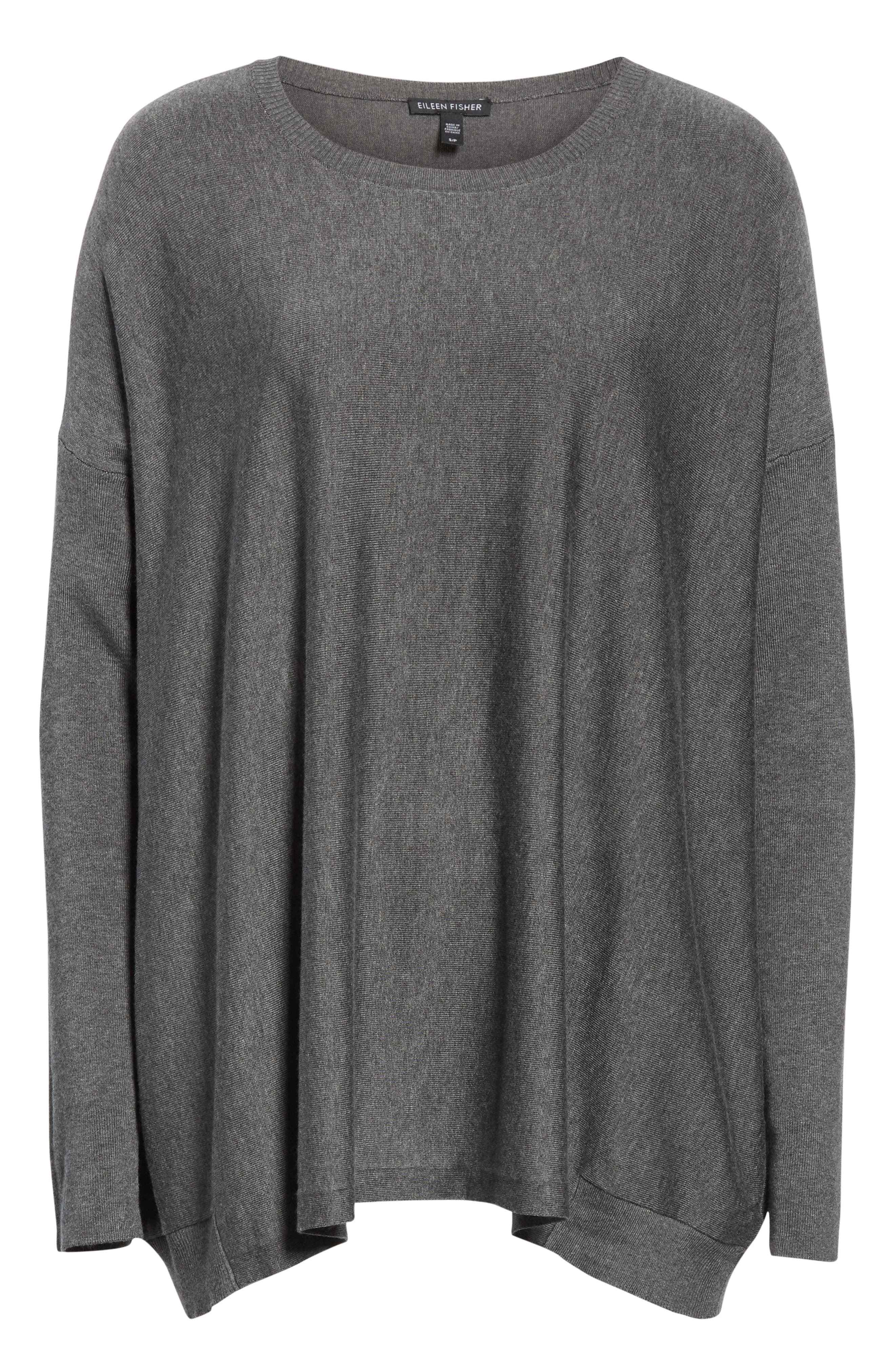 EILEEN FISHER, Tencel<sup>®</sup> Lyocell Blend Sweater, Alternate thumbnail 6, color, 030