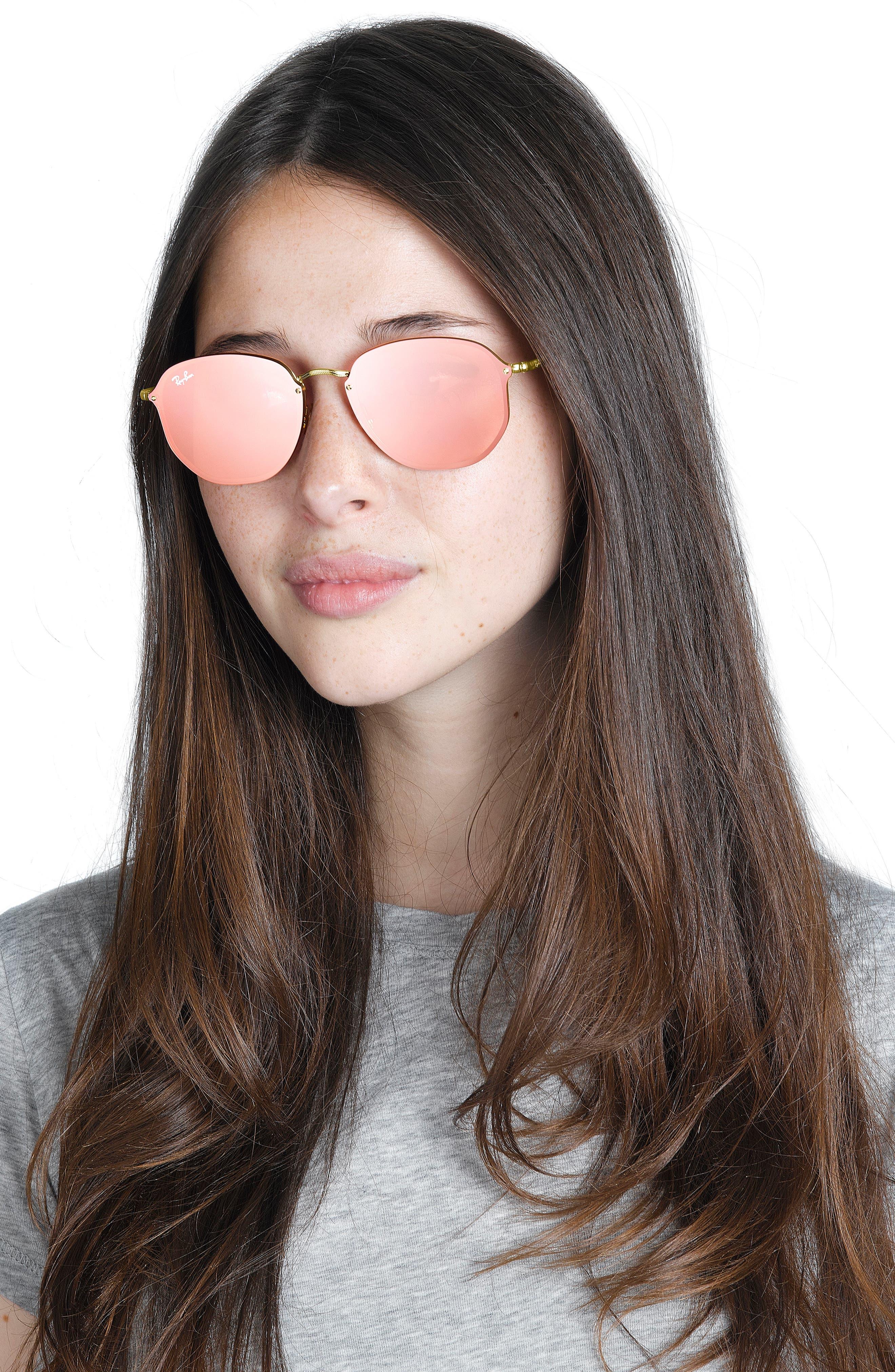58mm Round Sunglasses,                             Alternate thumbnail 8, color,