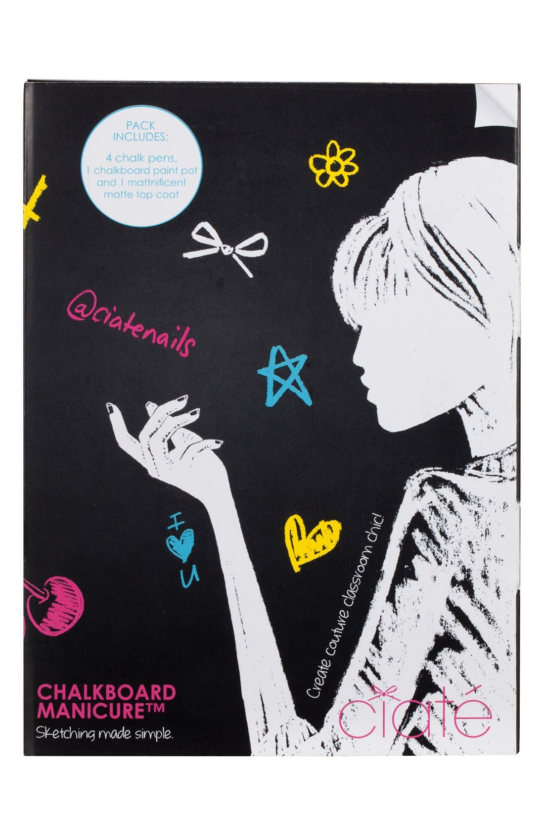 'Chalkboard' Manicure Set,                             Alternate thumbnail 4, color,                             650