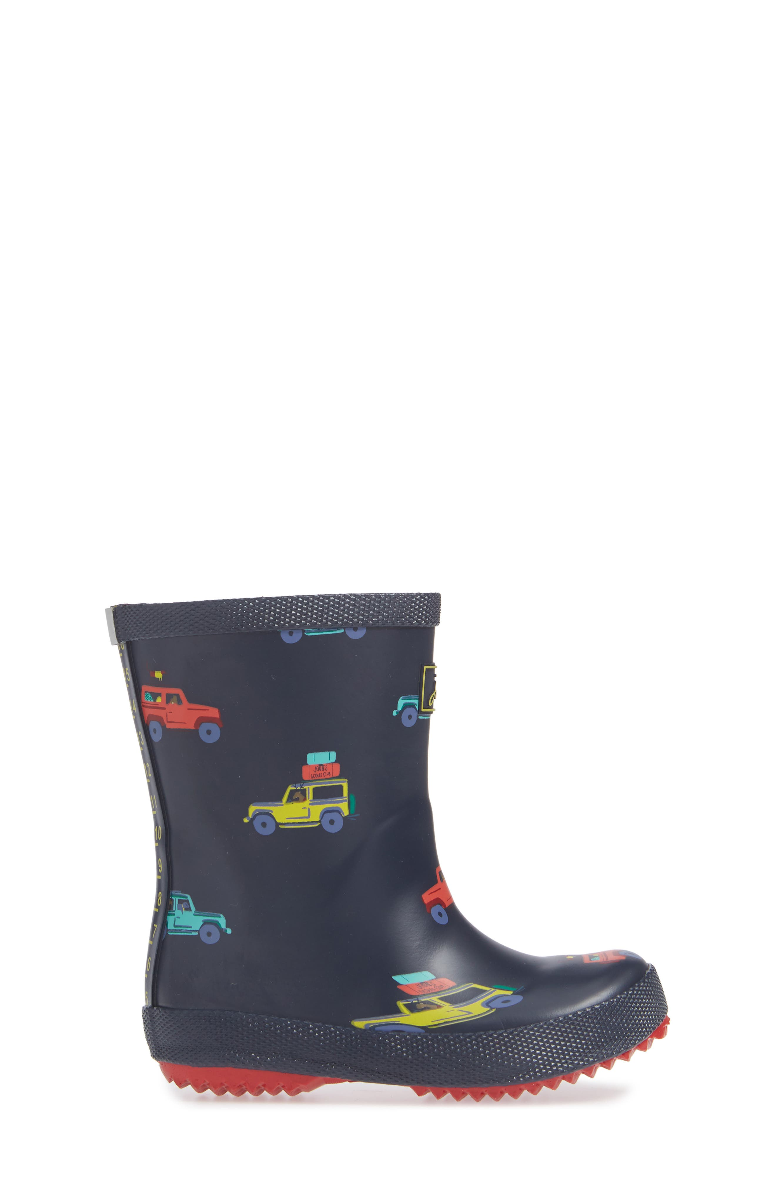 Print Welly Rain Boot,                             Alternate thumbnail 3, color,                             NAVY SCOUT AND ABOUT