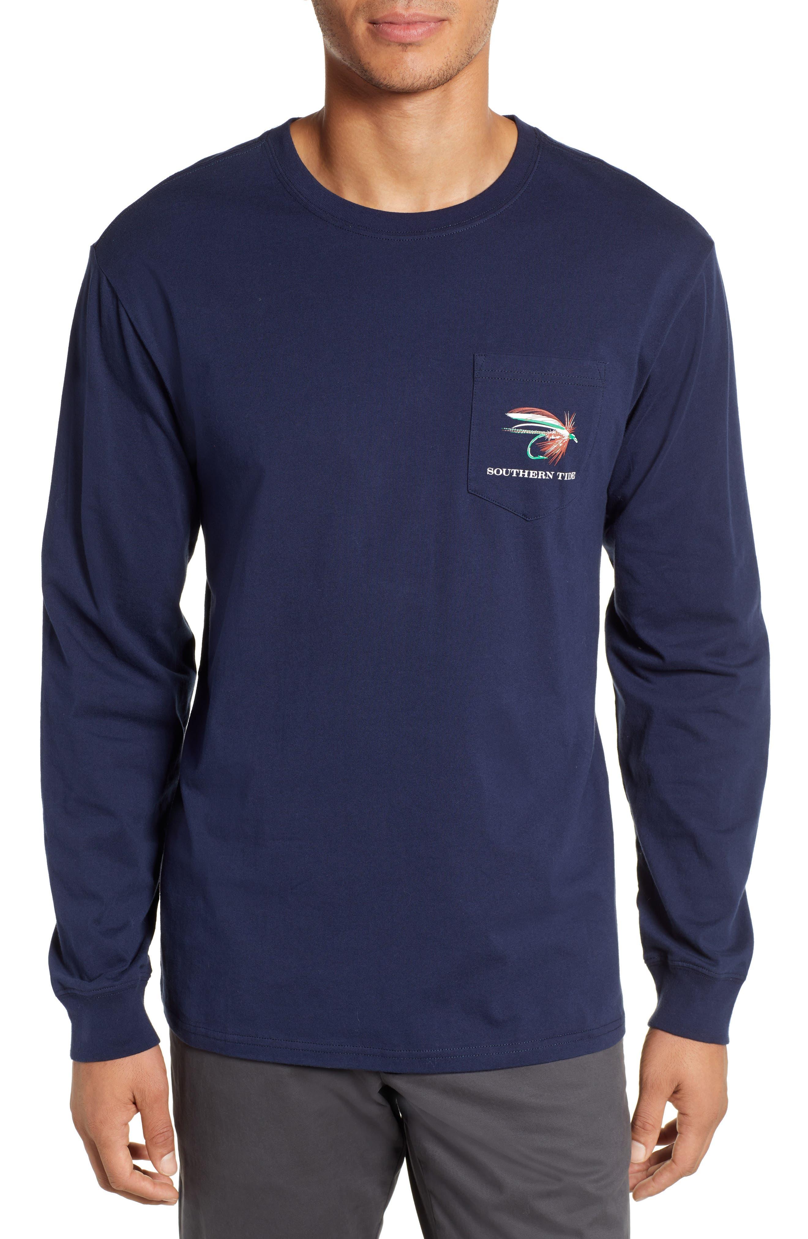 12 Flies of Christmas T-Shirt,                         Main,                         color, TRUE NAVY