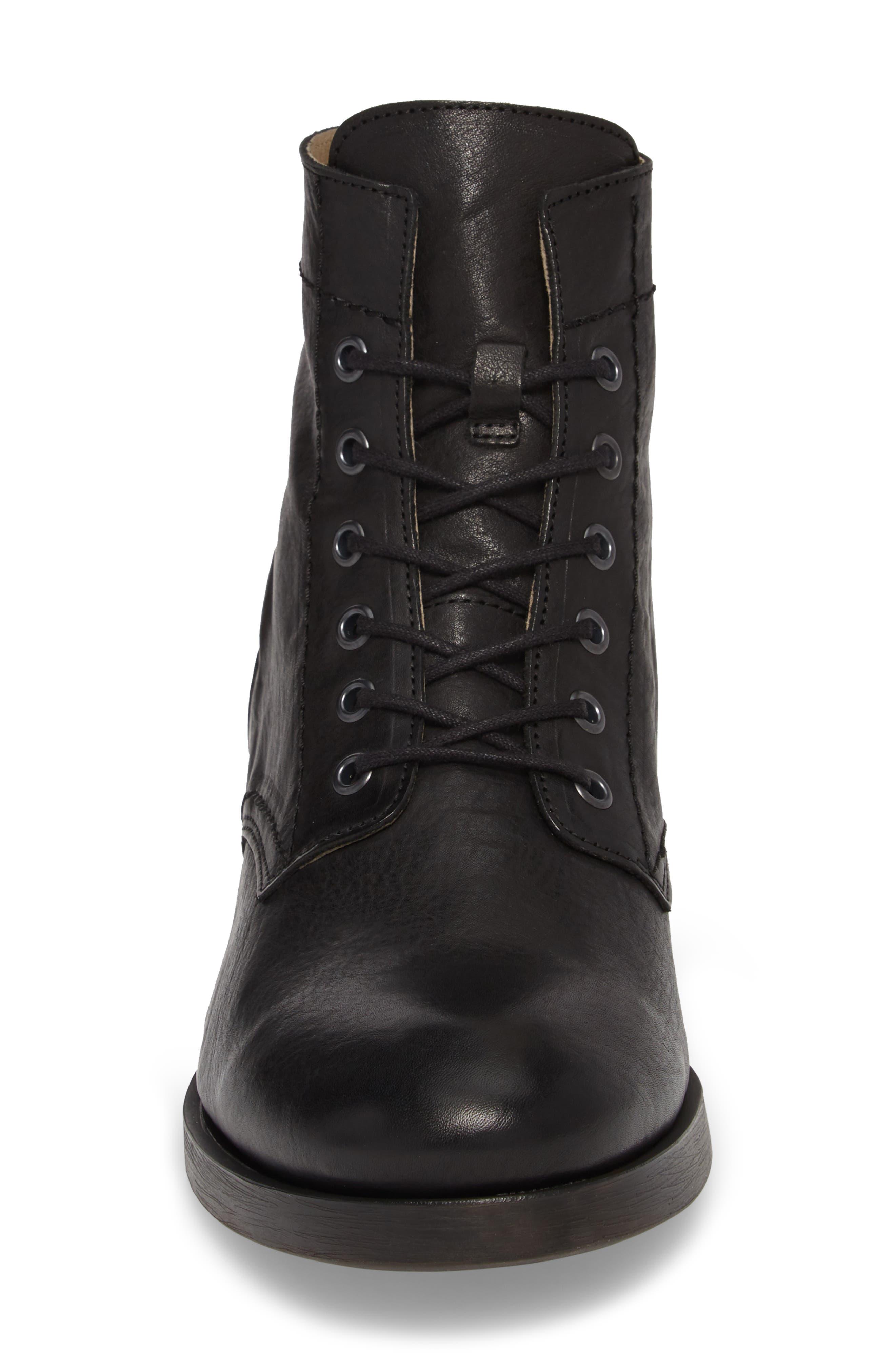 Marc Combat Boot,                             Alternate thumbnail 4, color,                             BLACK APSO