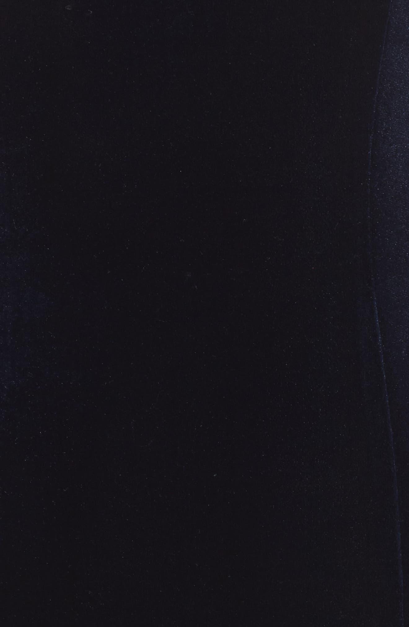Velvet Gown,                             Alternate thumbnail 5, color,                             NAVY