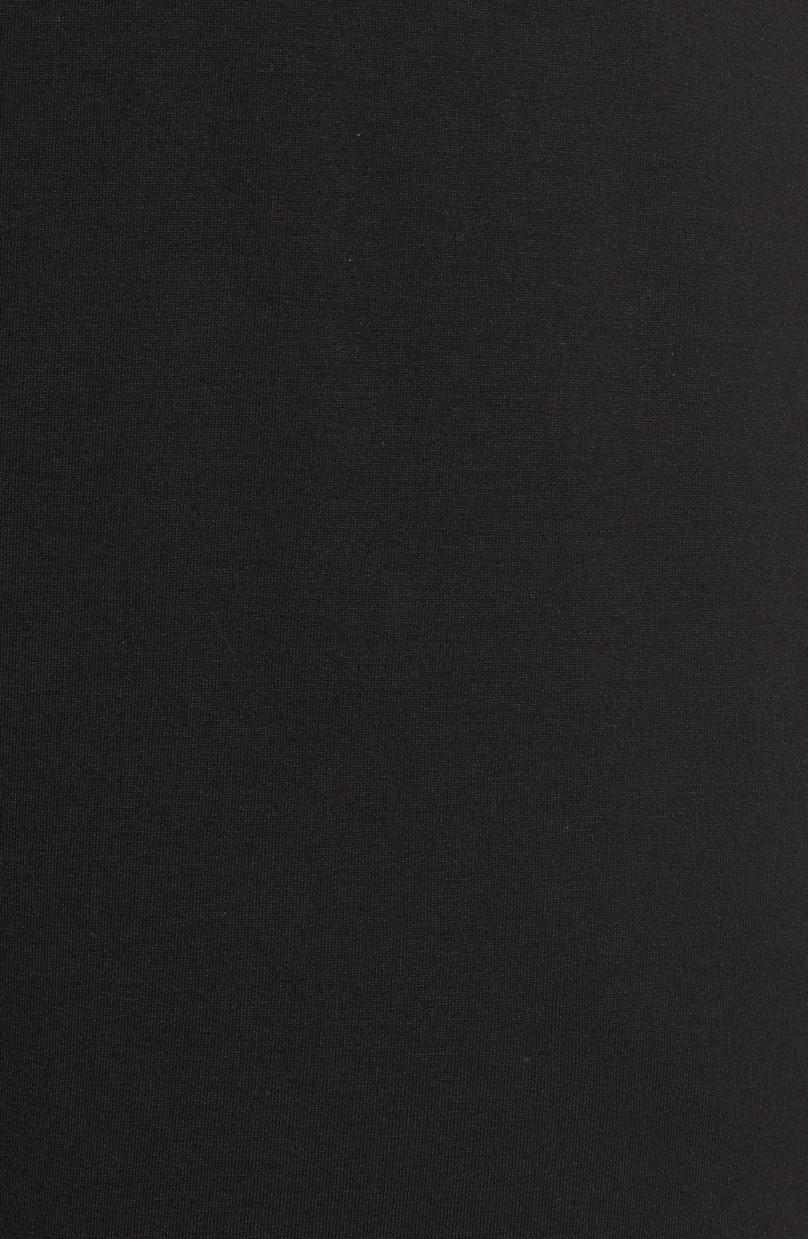 Crop Stretch Knit Pants,                             Alternate thumbnail 5, color,                             BLACK