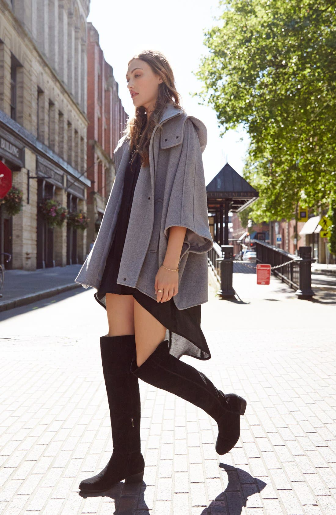 'Johanna' Over the Knee Suede Boot,                             Alternate thumbnail 5, color,                             001