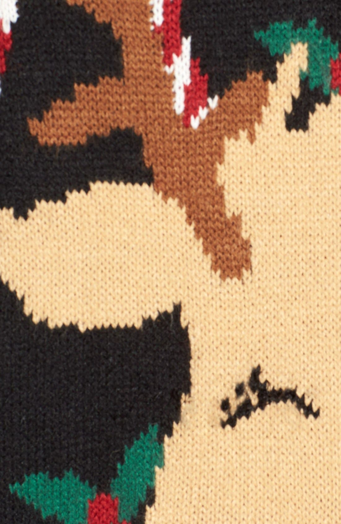 LOVE BY DESIGN,                             Mistletoe Reindeer Christmas Sweater,                             Alternate thumbnail 5, color,                             016
