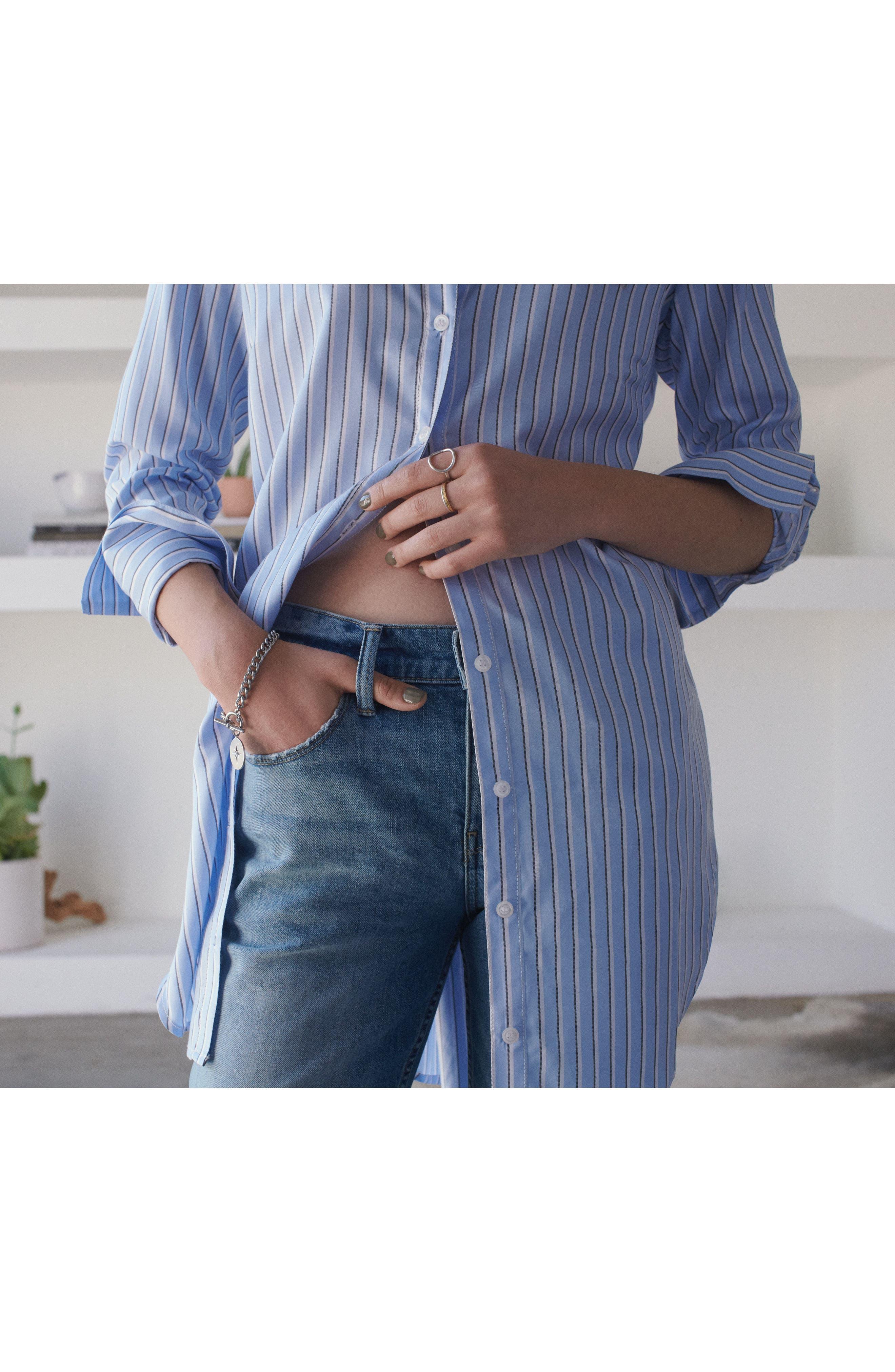 Pleat Back Shirtdress,                             Alternate thumbnail 8, color,