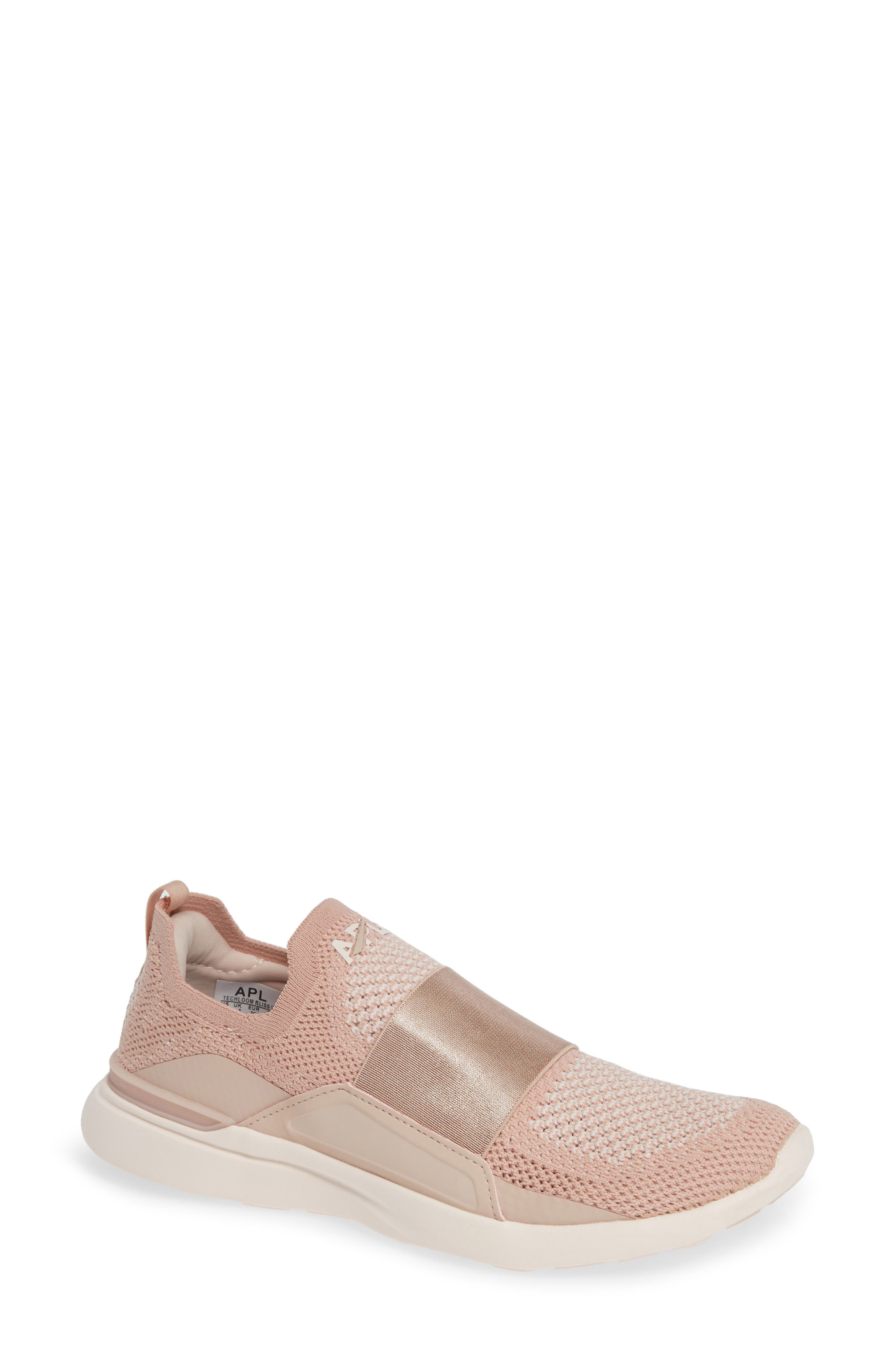 APL ATHLETIC PROPULSION LABS Techloom Bliss Mesh And Neoprene Sneakers in Blush