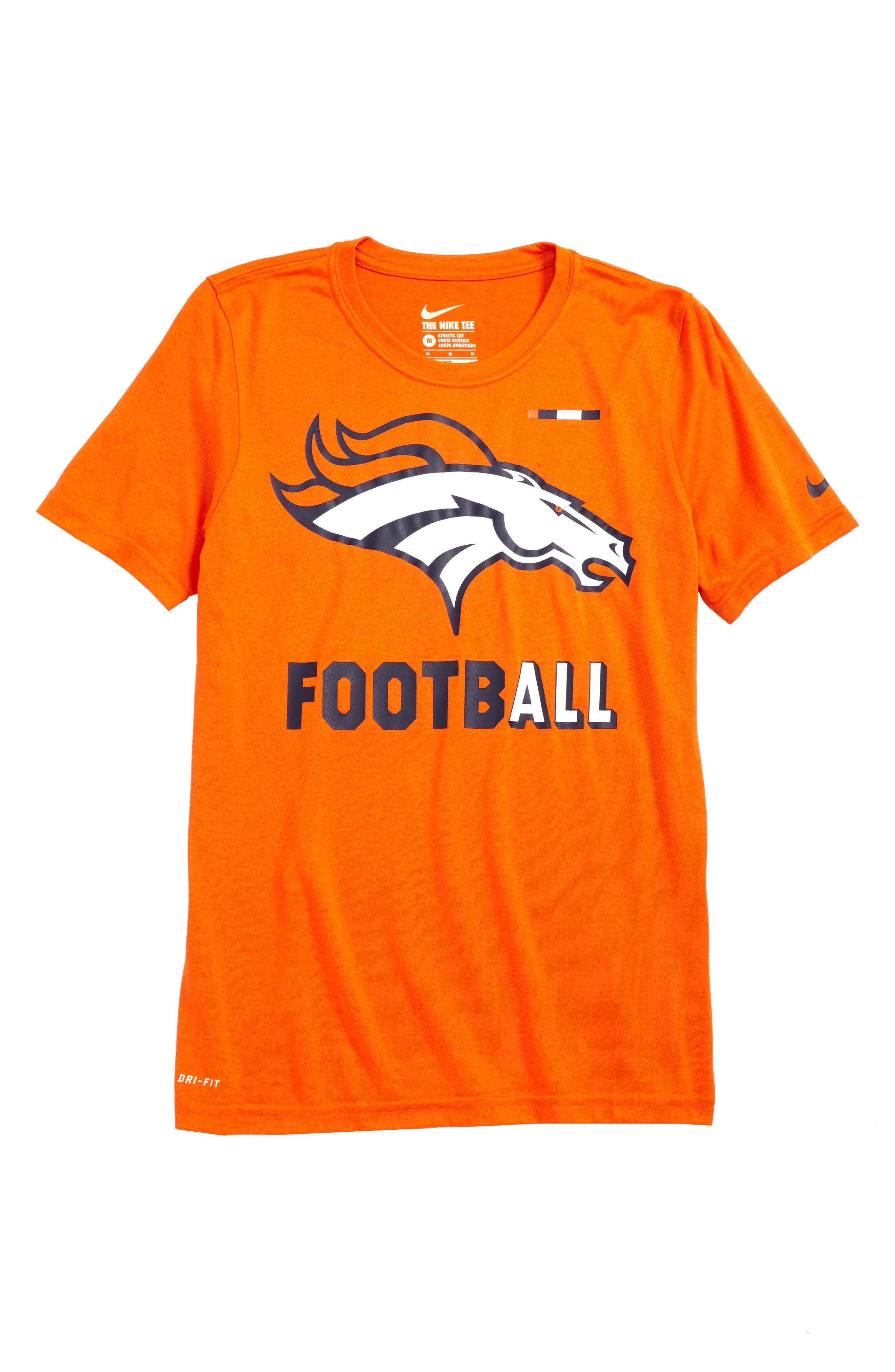 Nike NFL Logo - Denver Broncos Dry T-Shirt,                             Main thumbnail 1, color,                             821