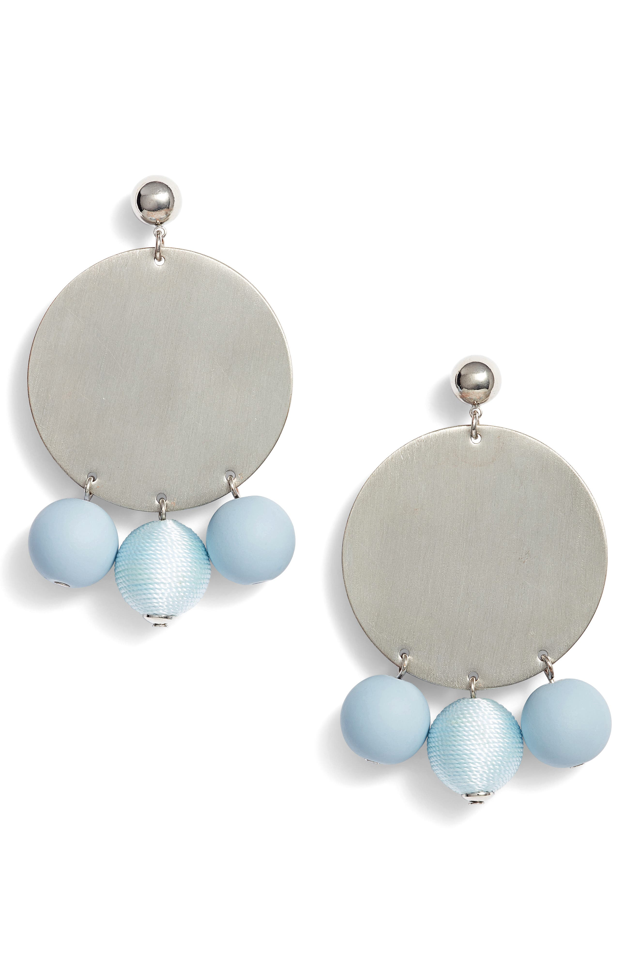 Threaded Sphere Statement Earrings,                         Main,                         color, 040